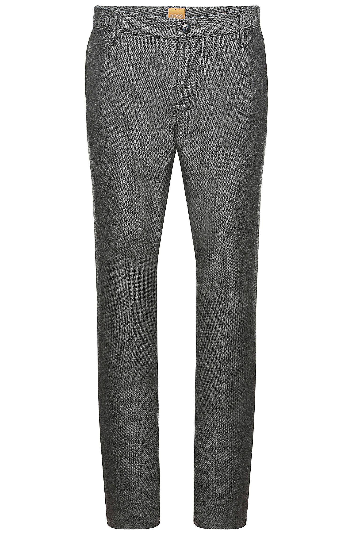 'Sairy-W' | Slim Fit, Stretch Cotton Textured Chinos