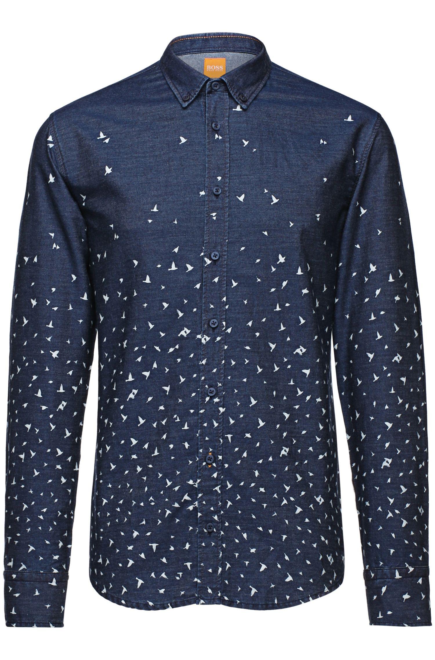 'EdipoE' | Slim Fit, Cotton Button Down Shirt