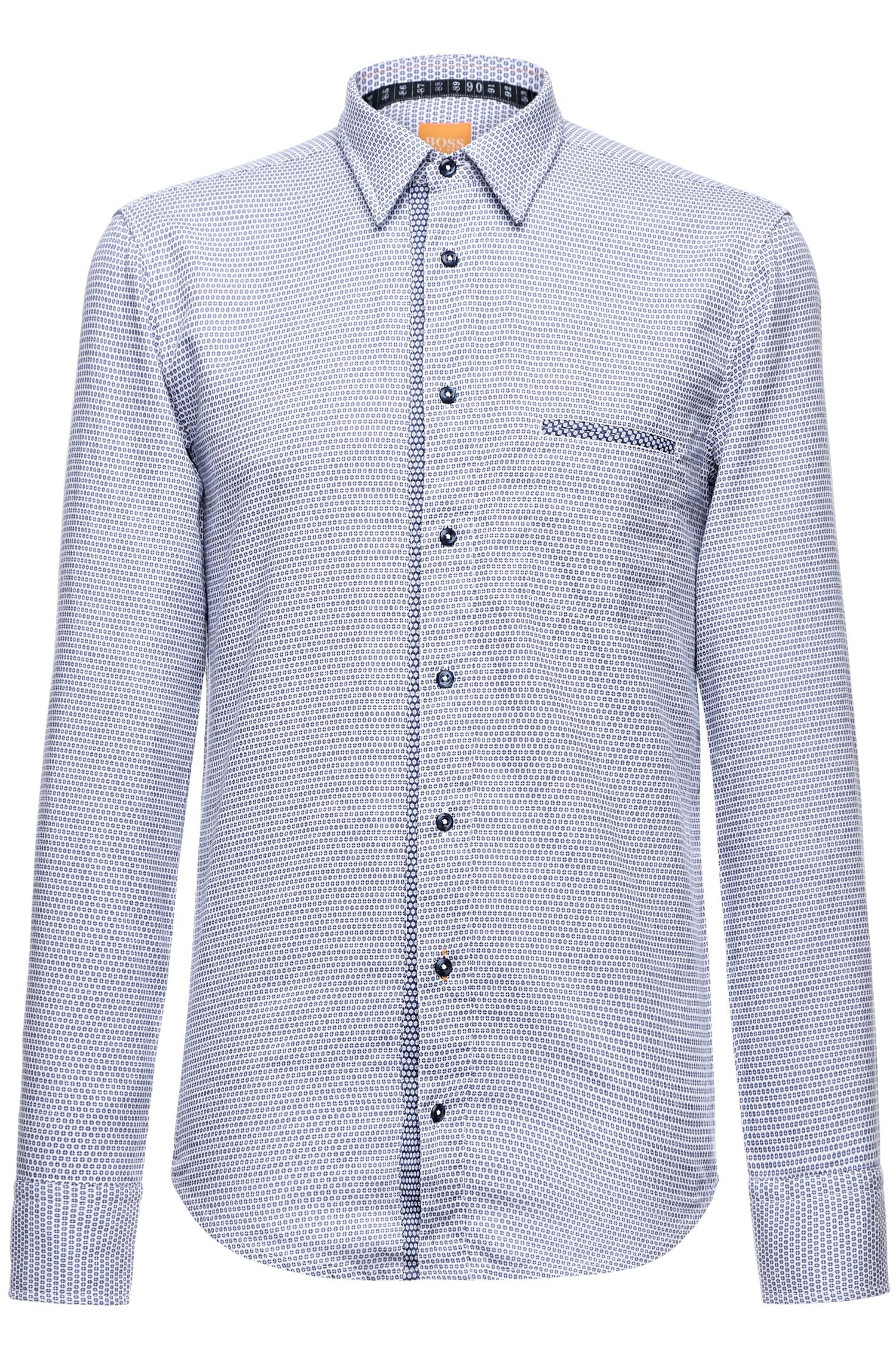 'CieloebuE' | Slim Fit, Cotton Abstract Button Down Shirt