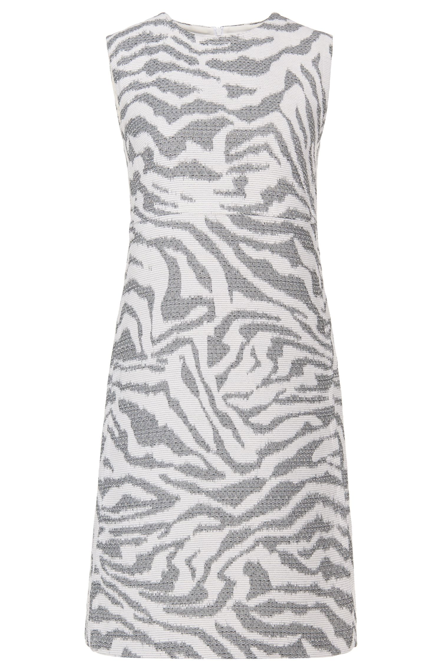 'Dakola'   Virgin Wool Blend A-Line Shift Dress
