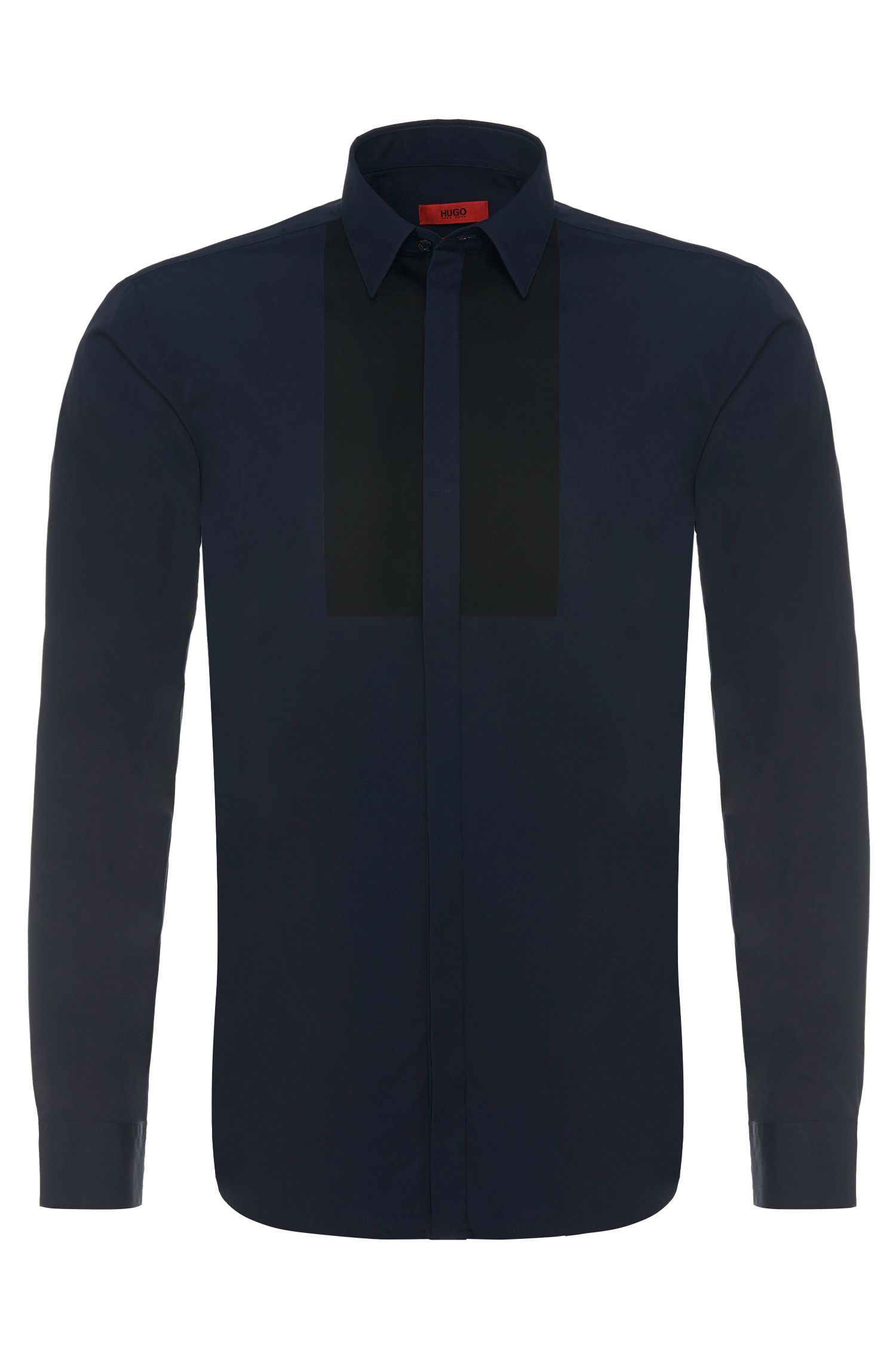 'Endrinos' | Slim Fit, Cotton Contrast Button Down Shirt