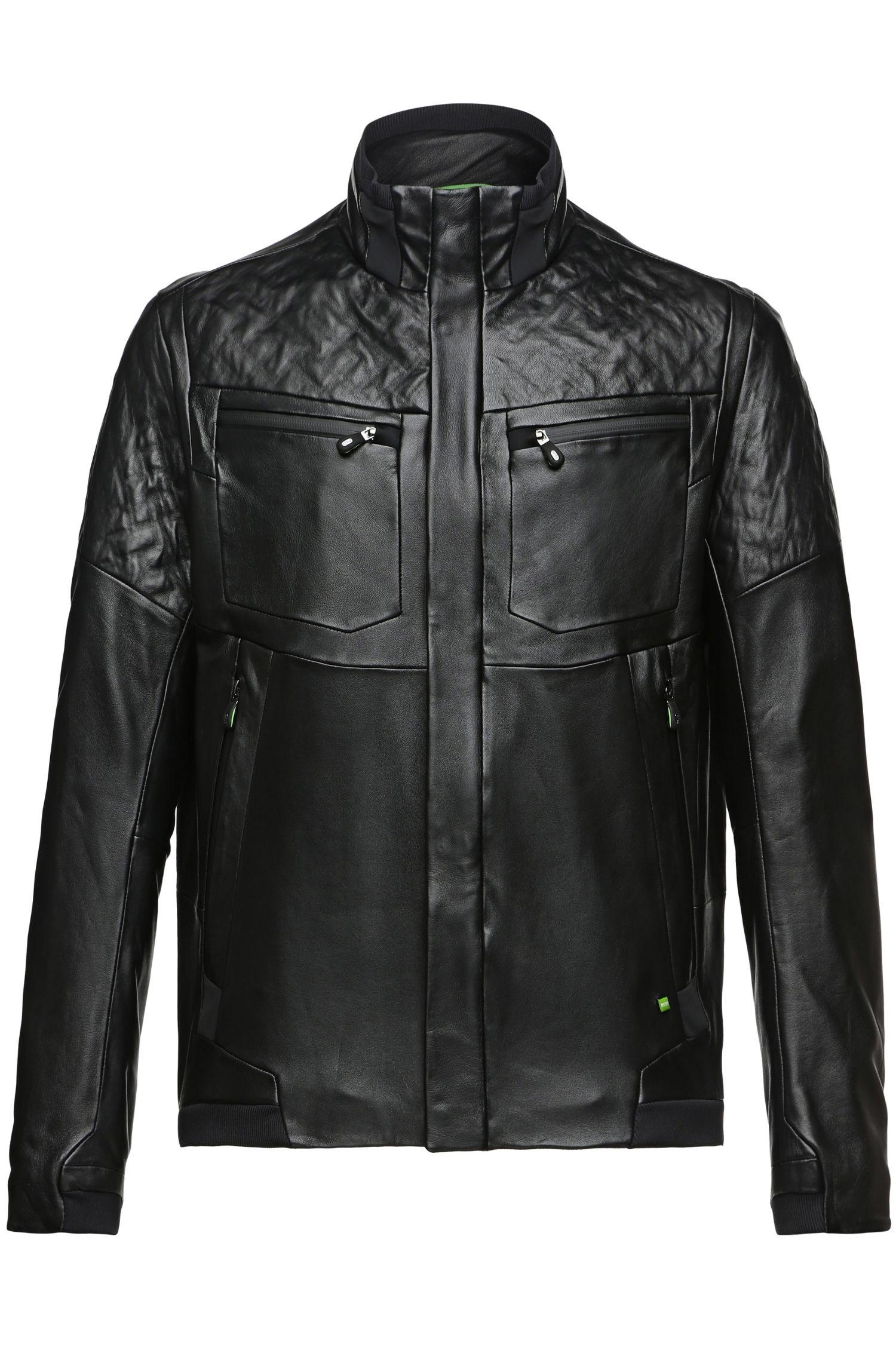 'Jomes'   Lamb Leather Bomber Jacket