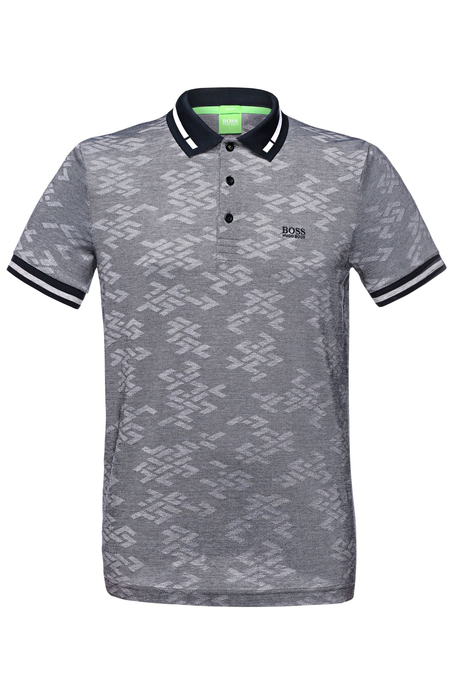 'Paule' | Slim Fit, Mercerized Cotton Jacquard Polo Shirt