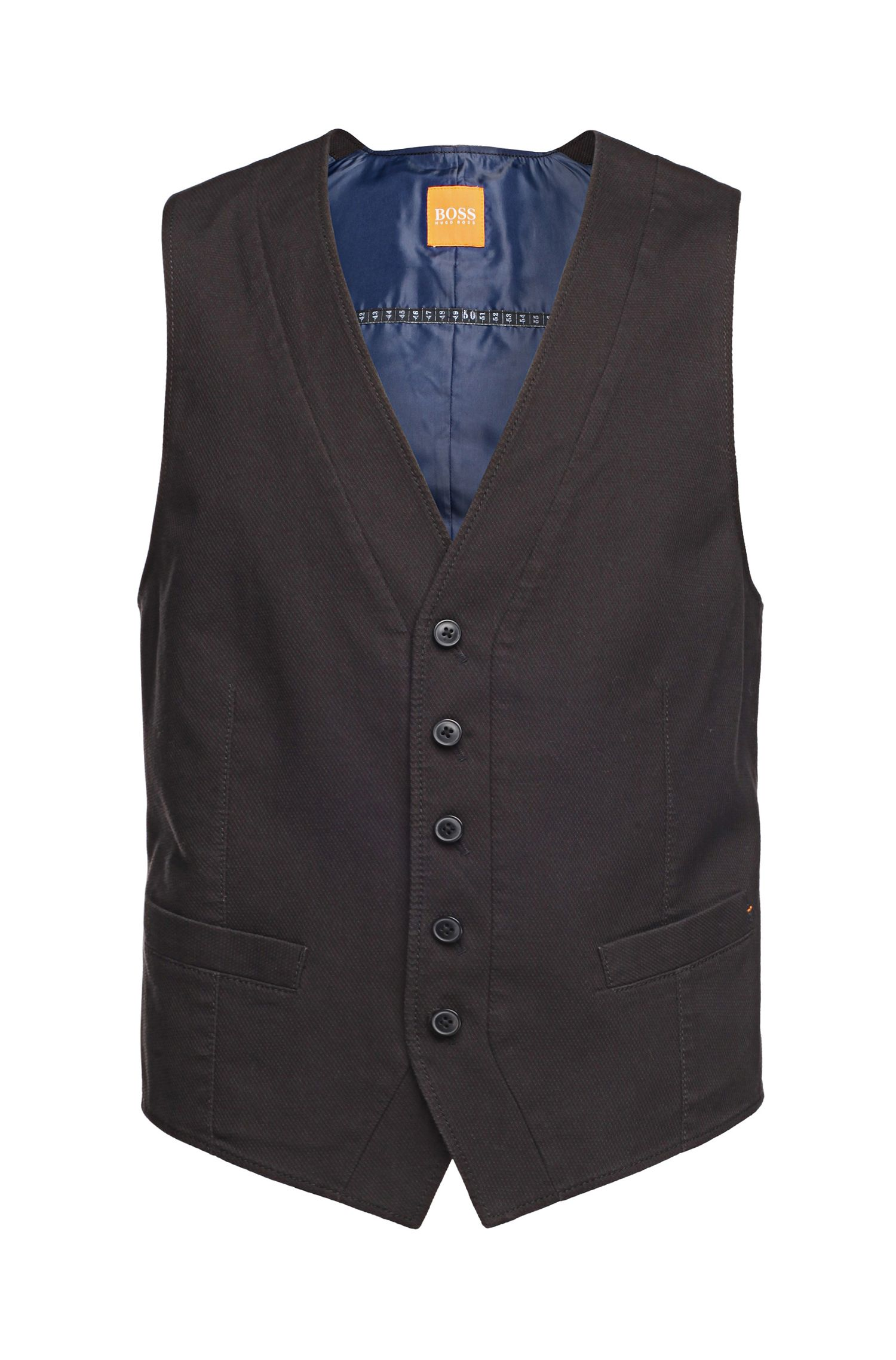 'Bosset_BS-W' | Slim Fit, Stretch Cotton Vest