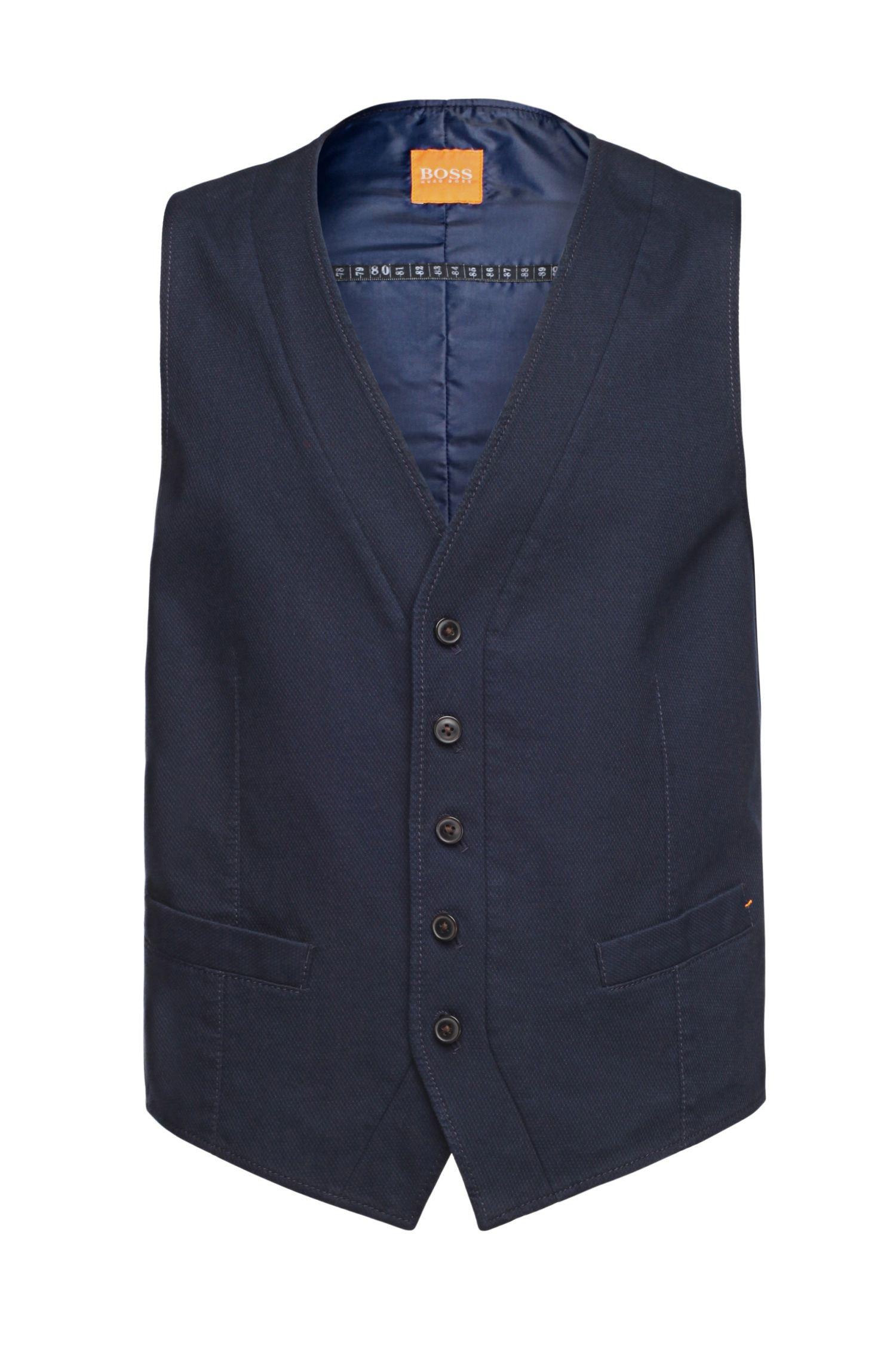 'Bosset_BS-W' | Slim Fit, Stretch Cotton Vest