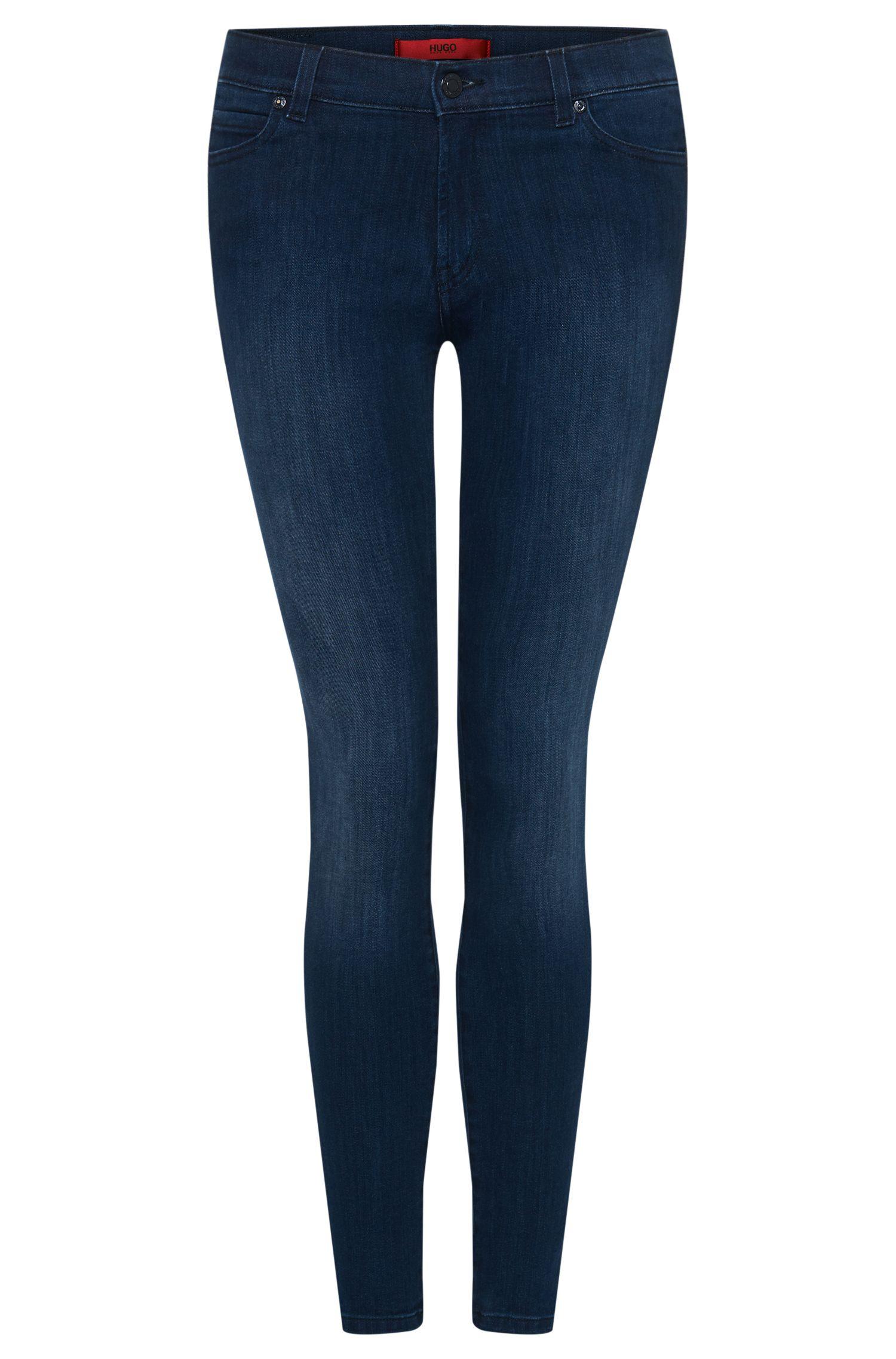 'Georgina' | Stretch Cotton Blend Mid Rise Jeans