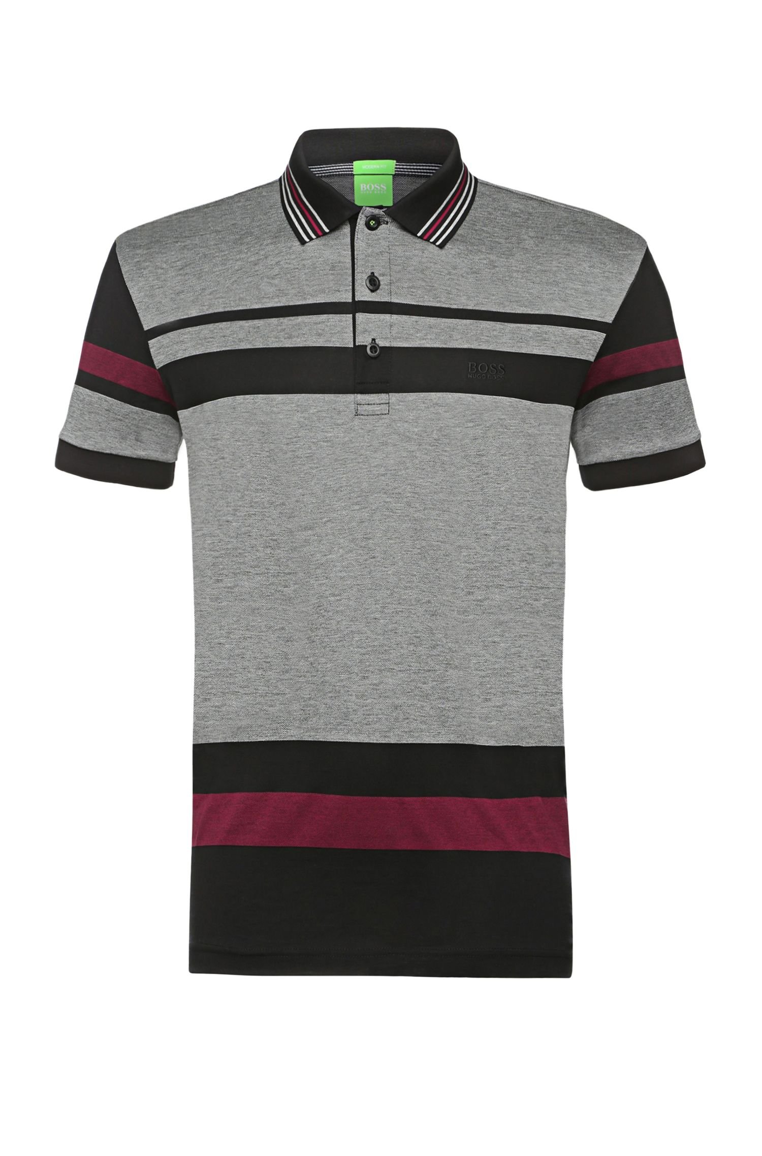 'Paddy' | Modern Fit, Pique Knit Striped Polo