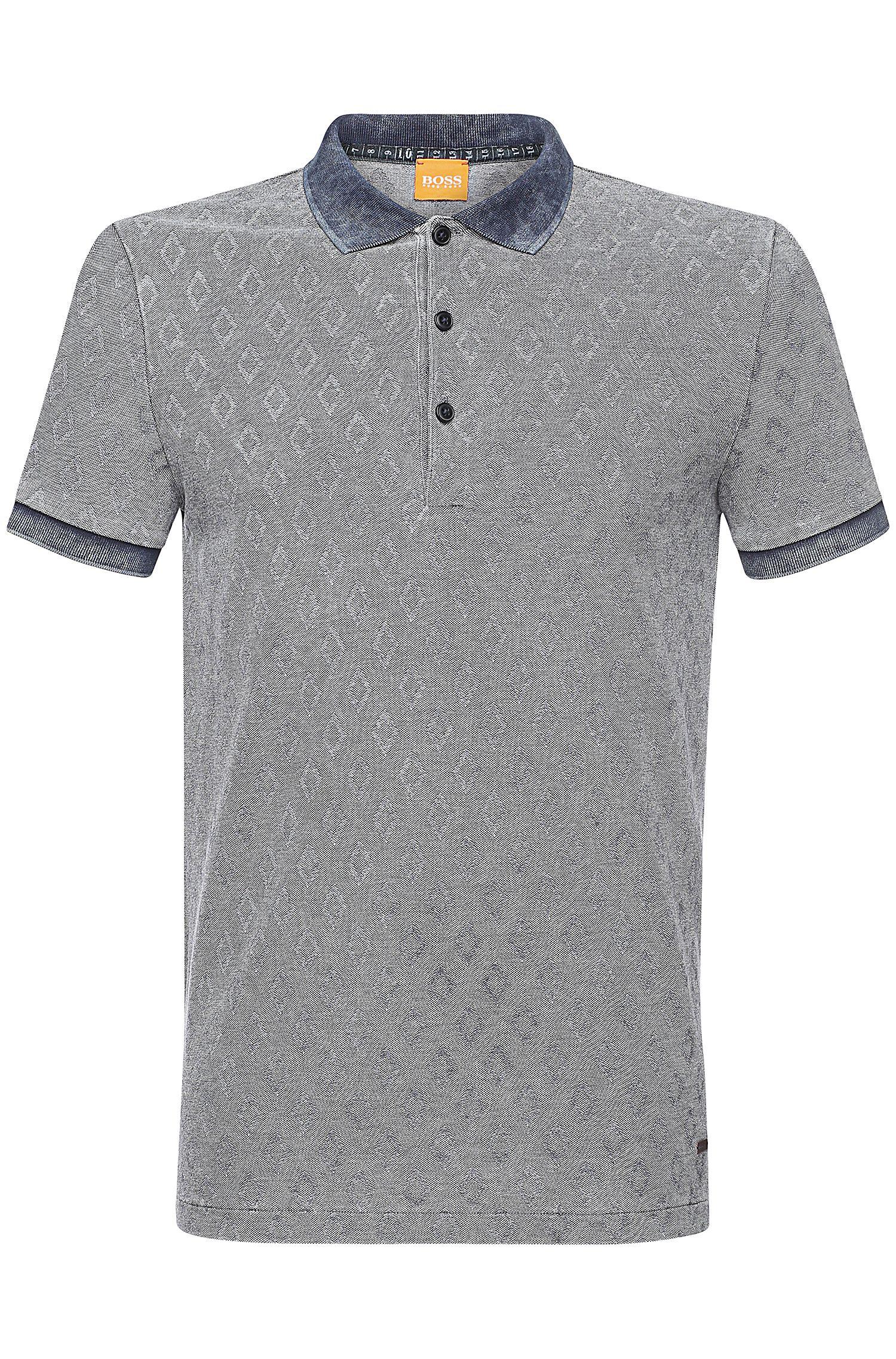 'Peppard' | Slim Fit, Cotto Jacquard Polo Shirt