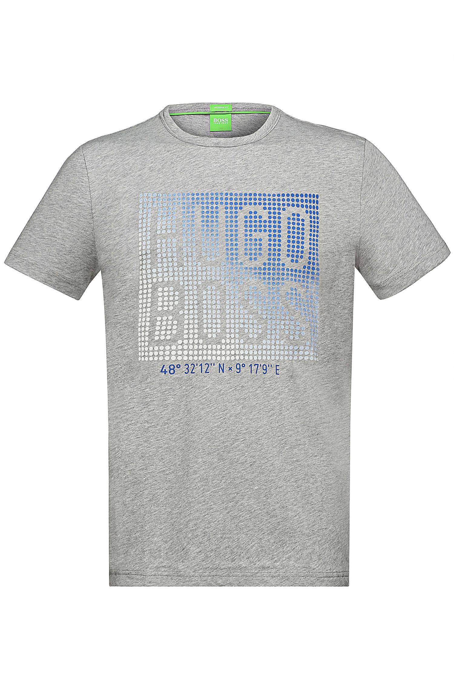 'Teeos'   Cotton Geo-Dot Logo Tee