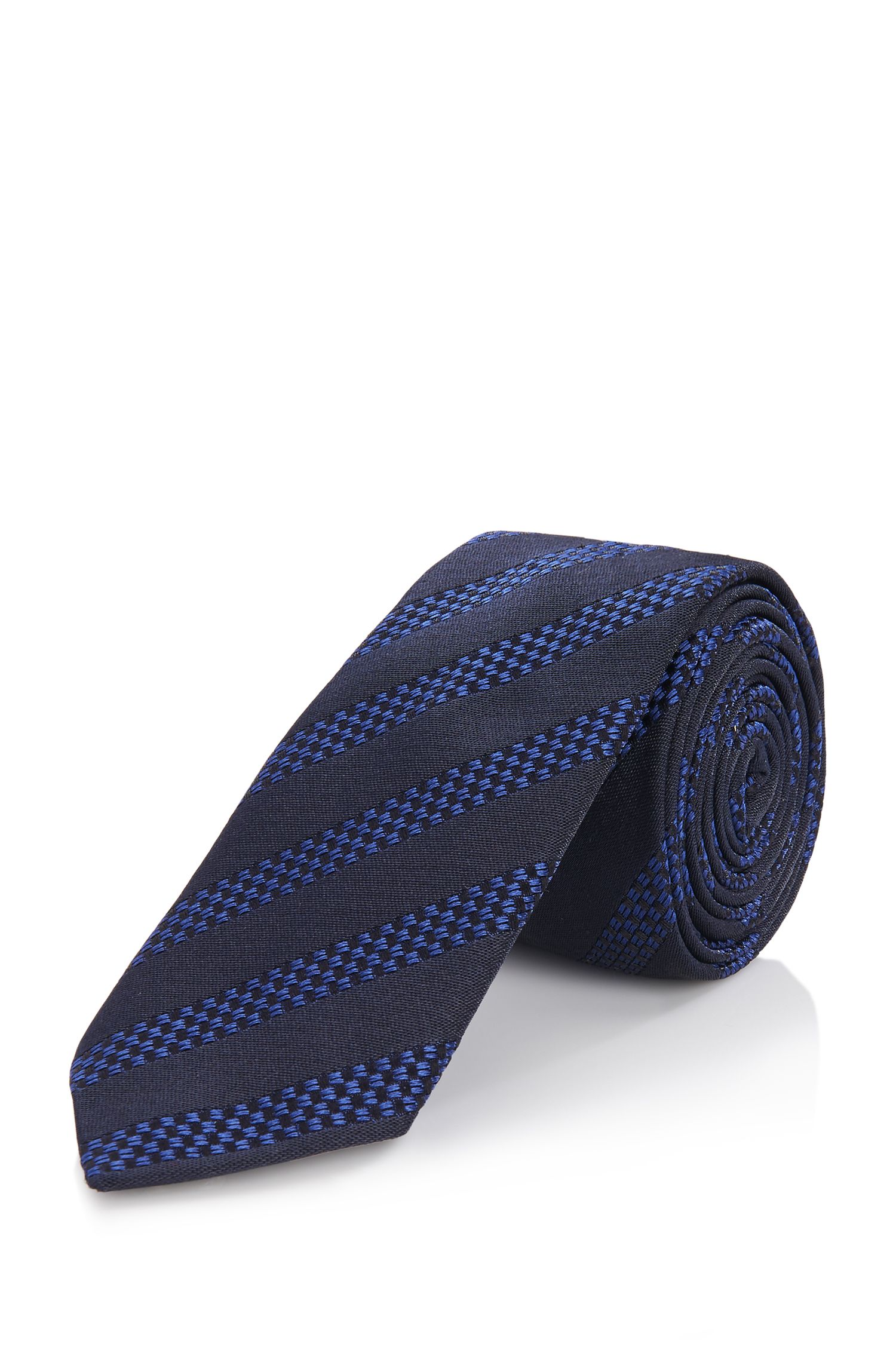 'Tie 6 cm' | Slim, Silk Textured Tie