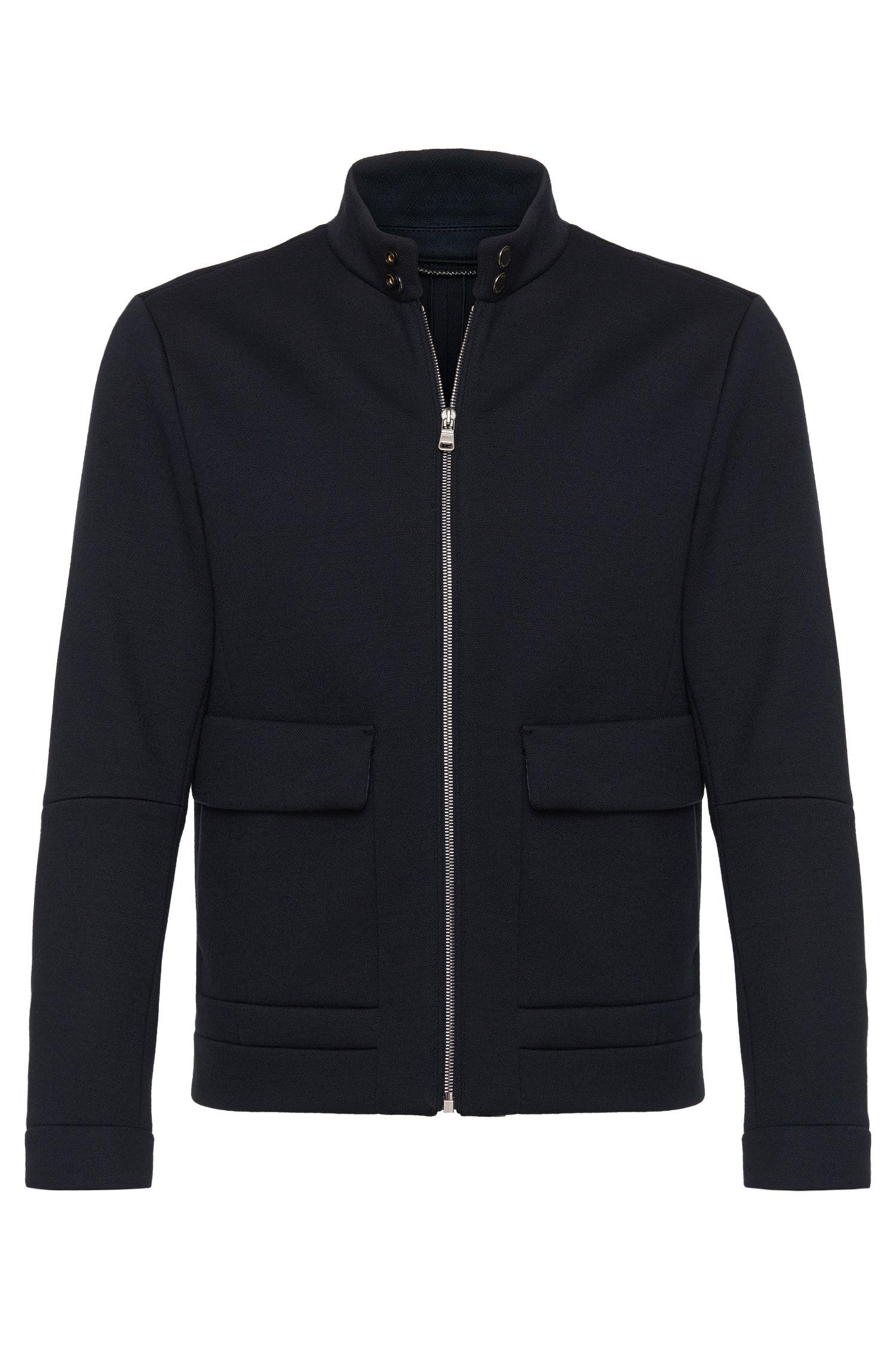 'T-Coal'   Italian Virgin Wool Blend Jacket