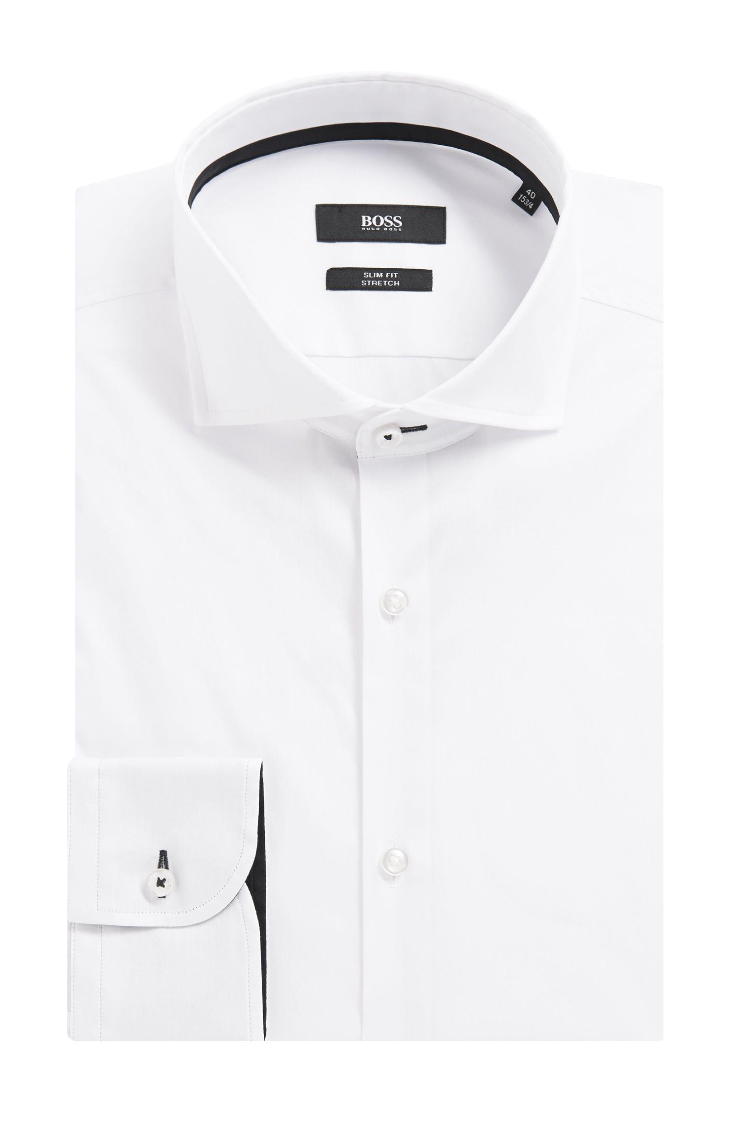 'Jery' | Slim Fit, Stretch Cotton Dress Shirt