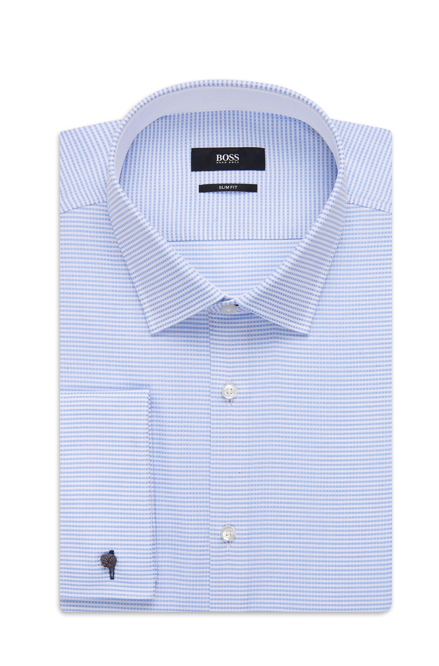 'Jac' | Slim Fit, Italian Cotton Patterned Dress Shirt