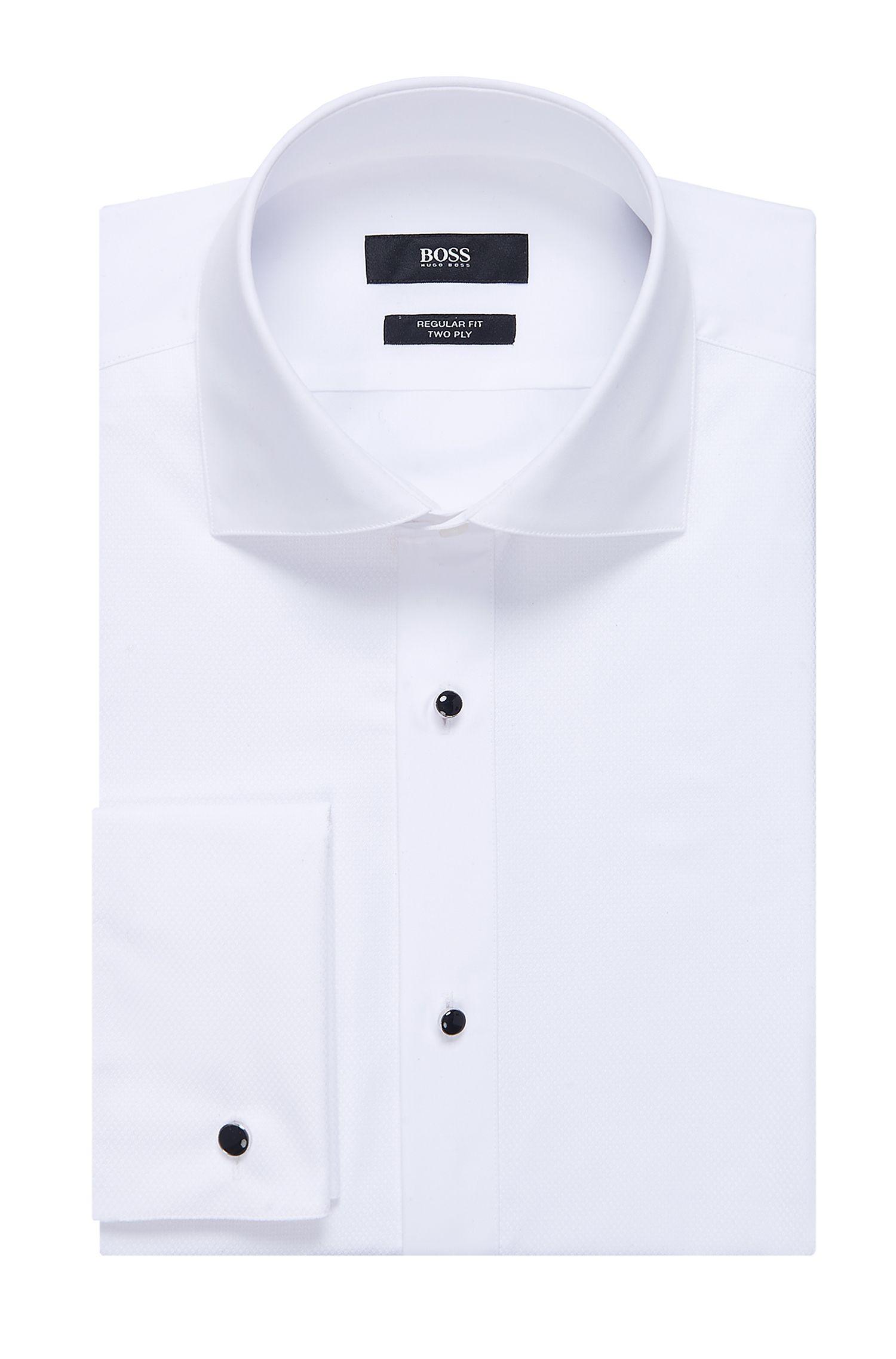 'Gustavo' | Regular Fit, Cotton Tuxedo Shirt