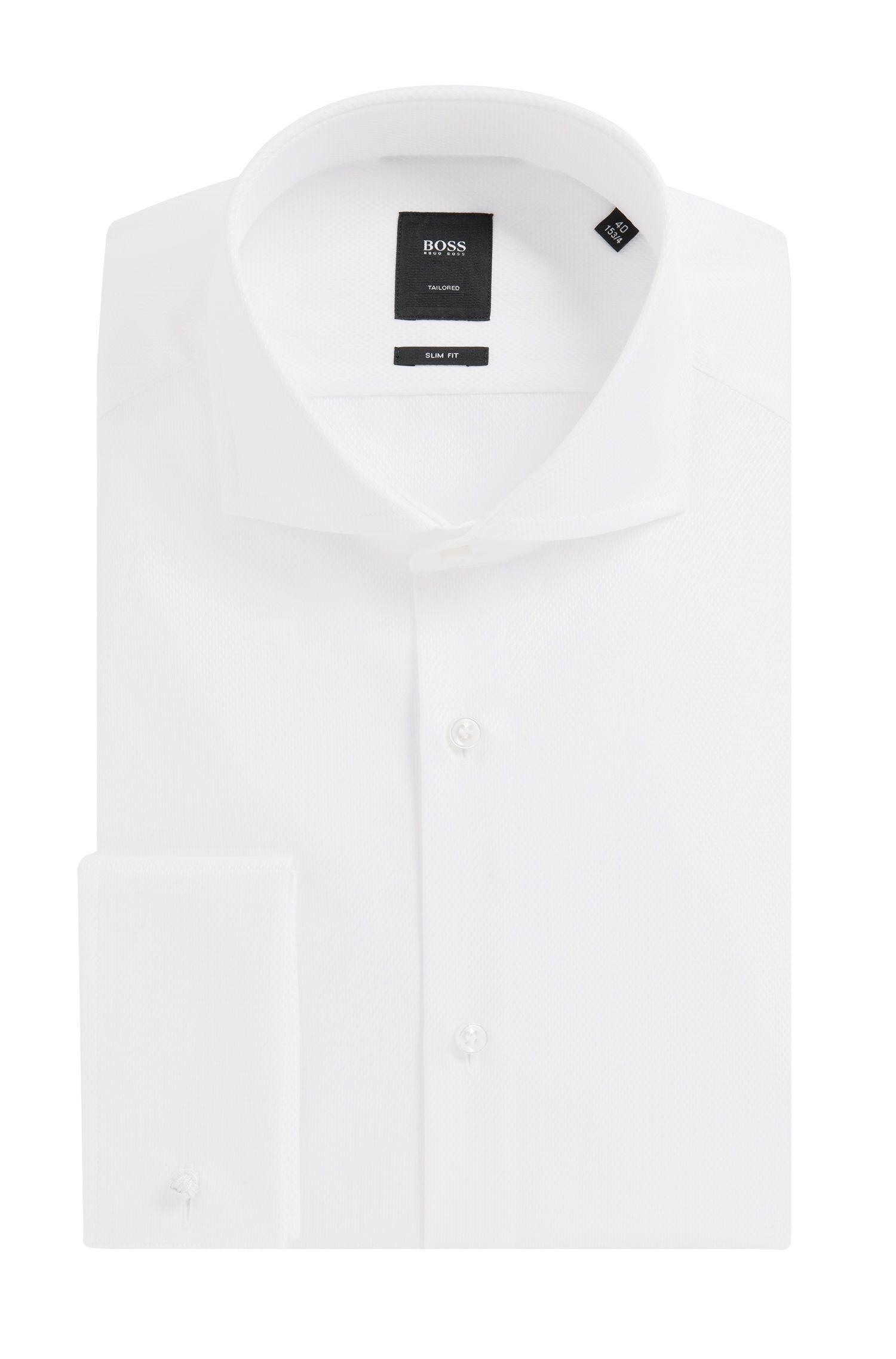 'T-Yacob' | Slim Fit, Italian Cotton Textured Dress Shirt