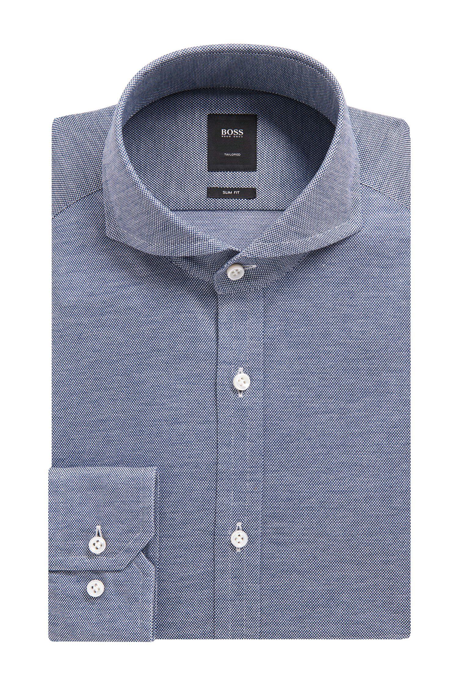 'T-Swain' | Slim Fit, Italian Cotton Jersey Dress Shirt
