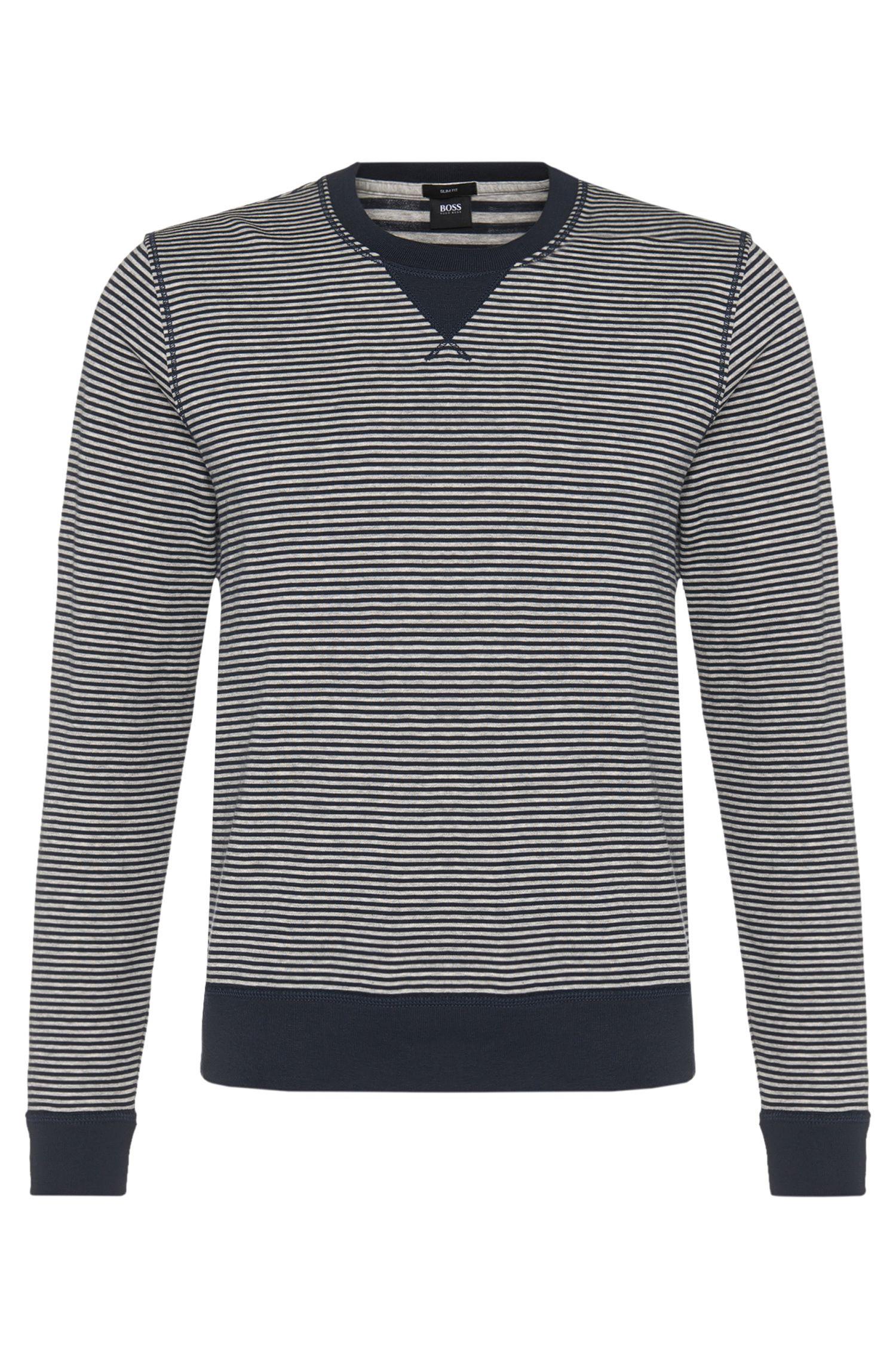 'Skubic' | Cotton Blend Striped Sweatshirt
