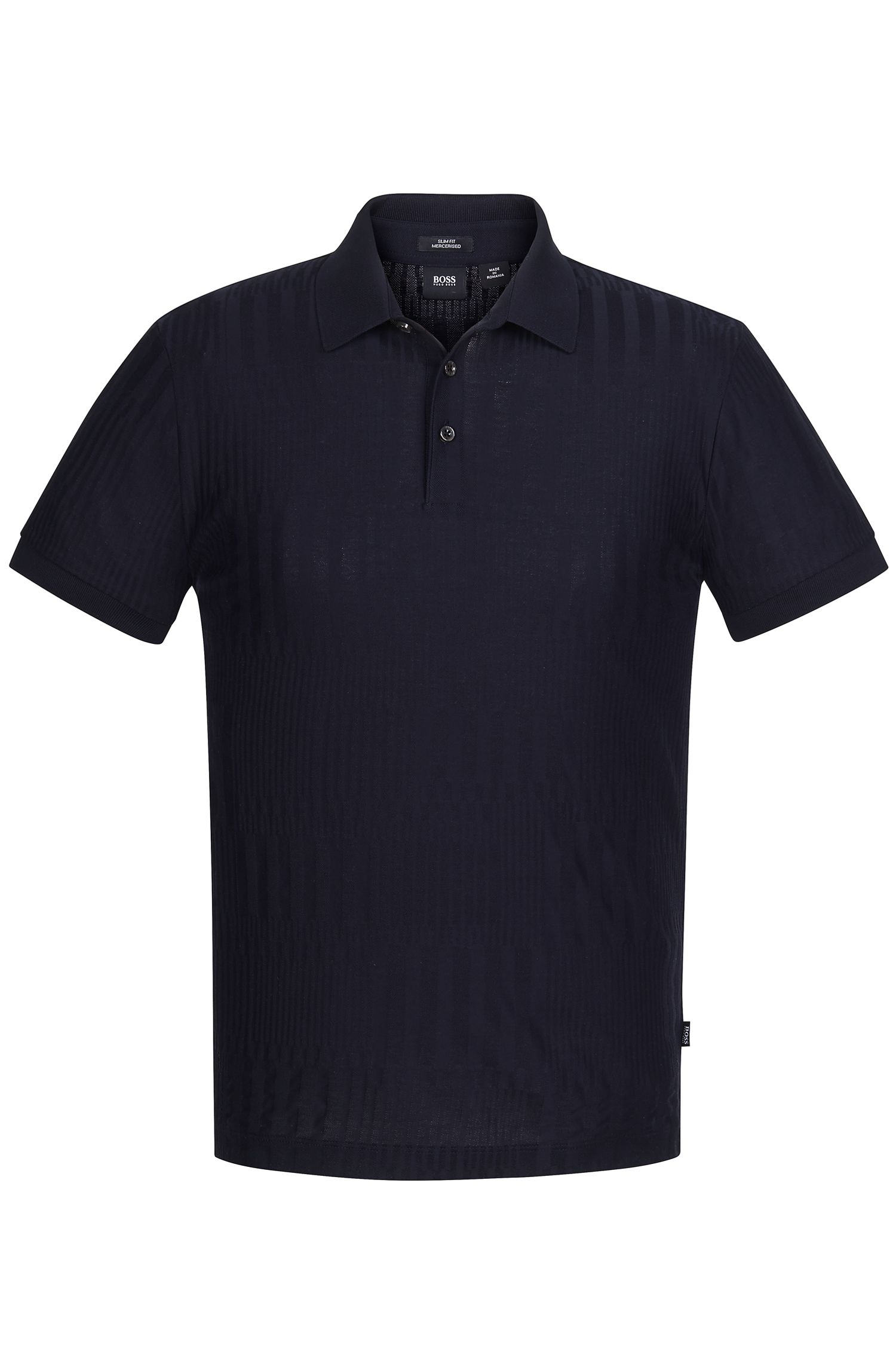 'Penrose' | Slim Fit, Mercerized Cotton Geo Jacquard Polo