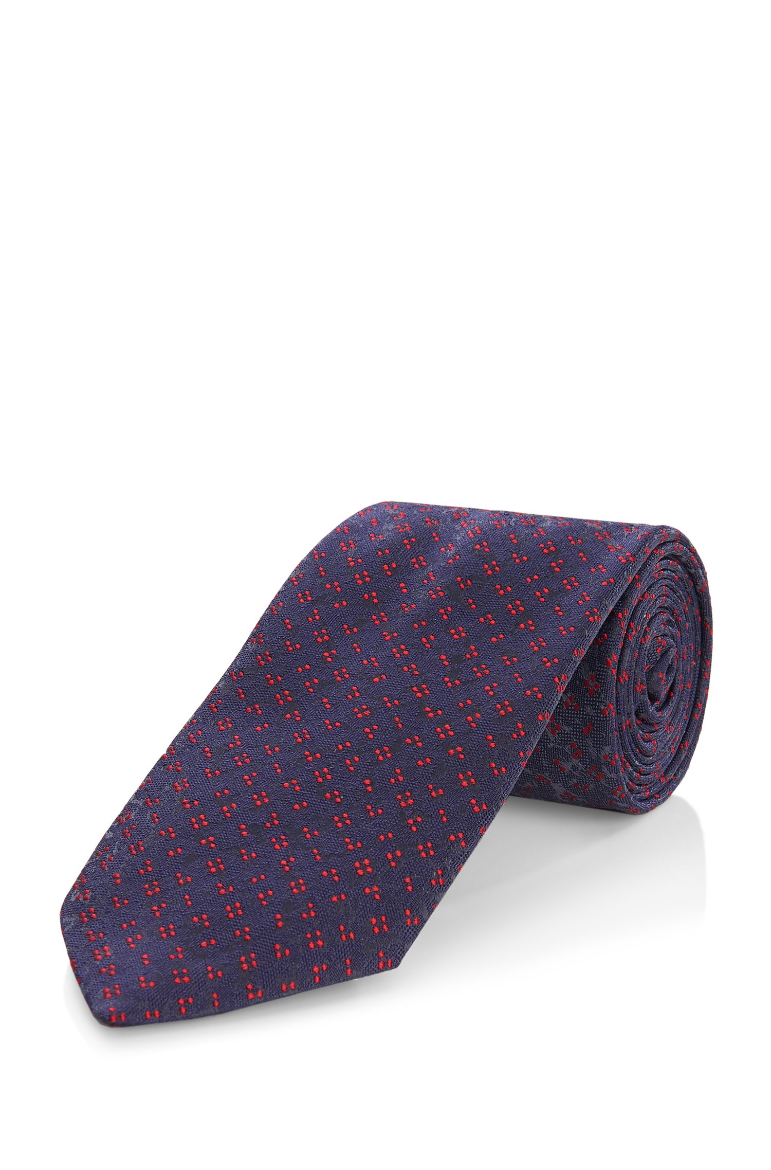 'Tie 7.5 cm' | Regular, Silk Embroidered Tie