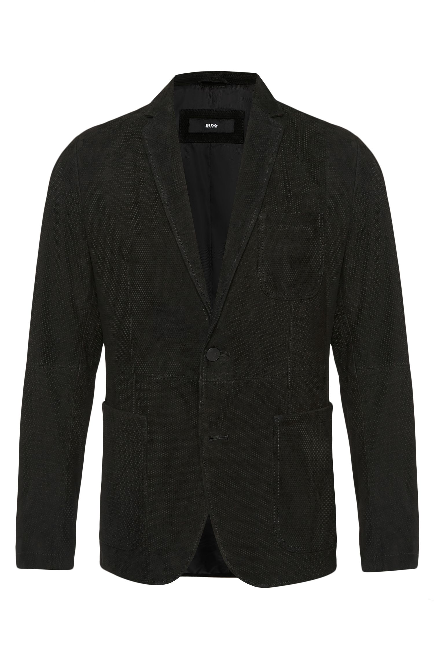 'Nuvins' | Regular Fit, Suede Leather Textured Sport Coat