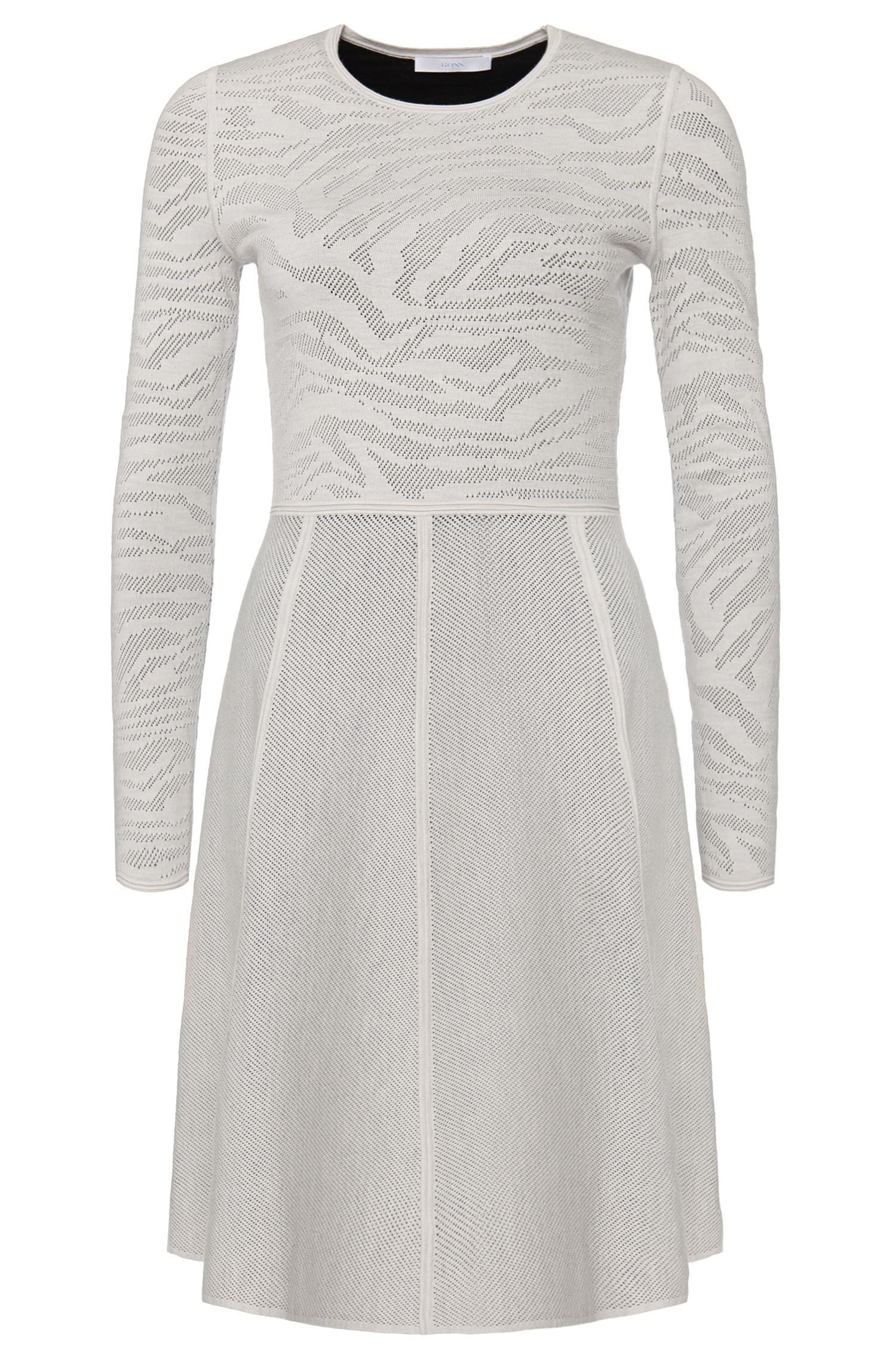 'Flaiza' | Stretch Virgin Wool Sweater Dress