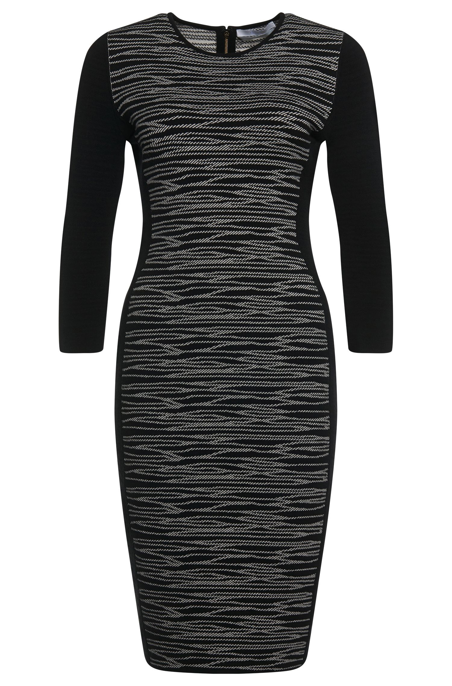 'Femilia' | Knit Jacquard Sheath Dress