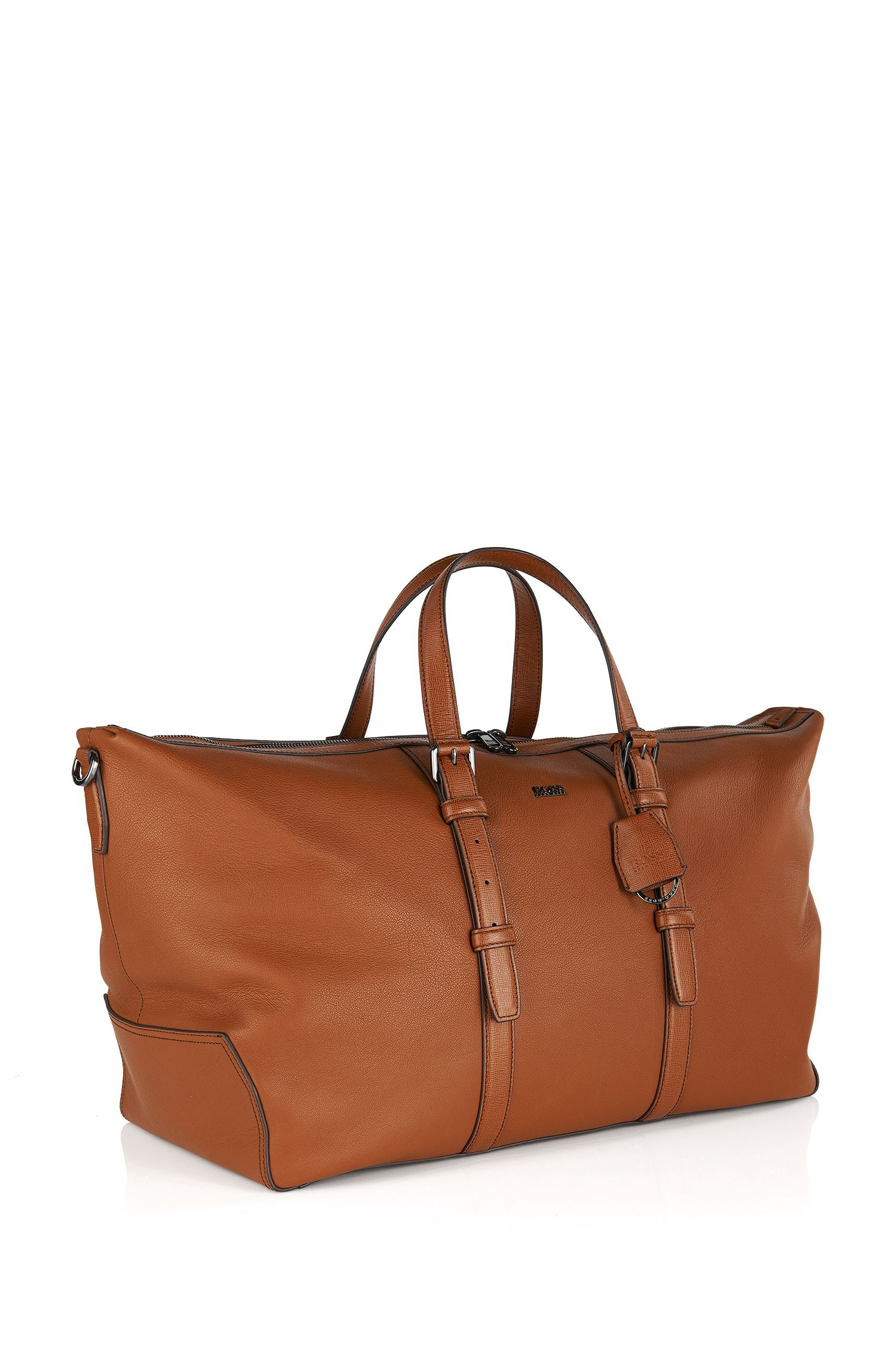 'Mass' | Leather Weekender with Detachable Strap