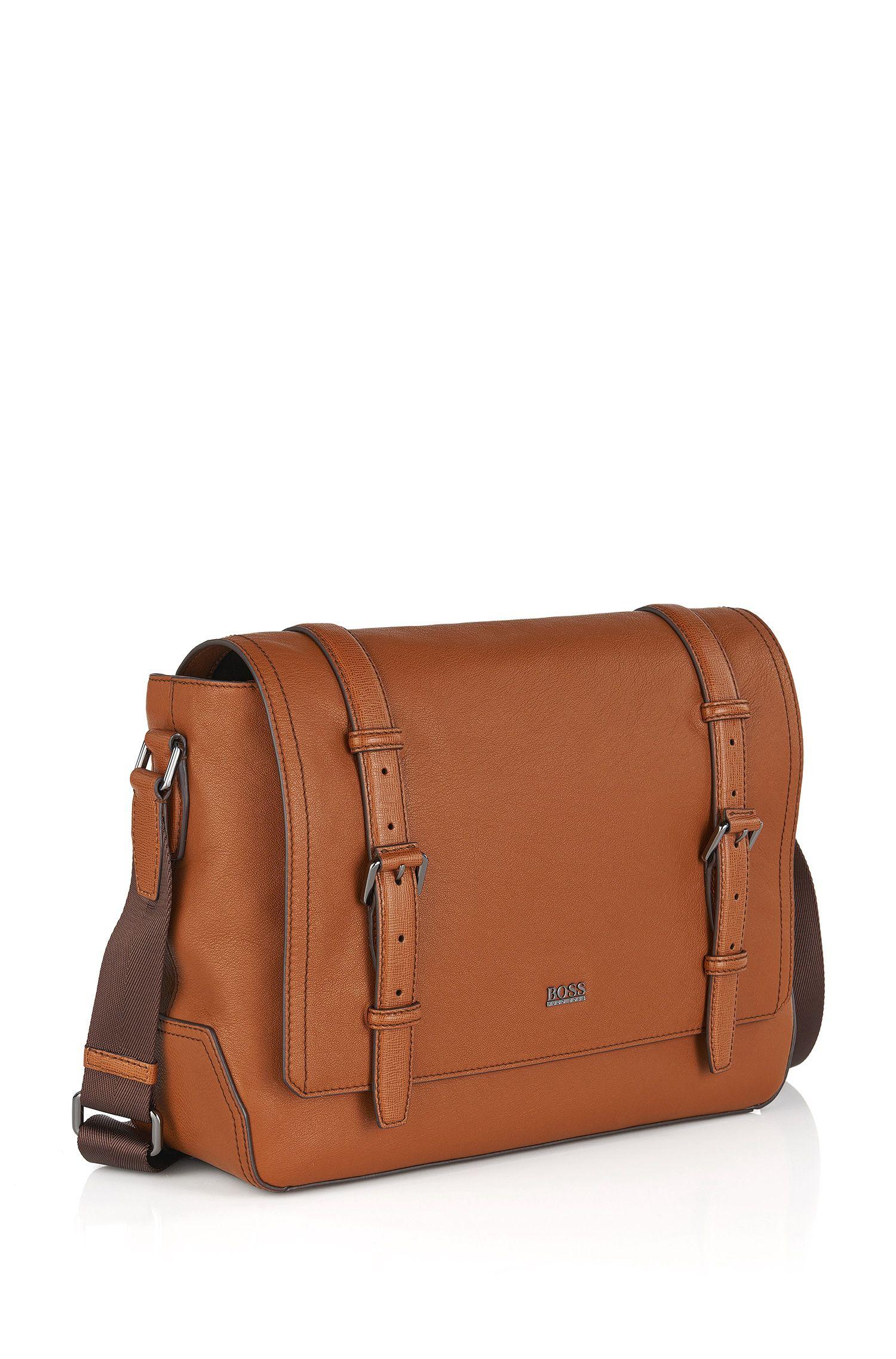 'Mauno' | Leather Work Bag, Adjustable Shoulder Strap