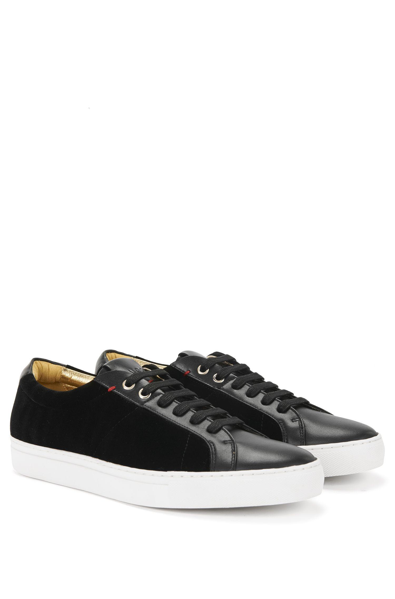 'Fullow' | Velvet Leather Sneakers
