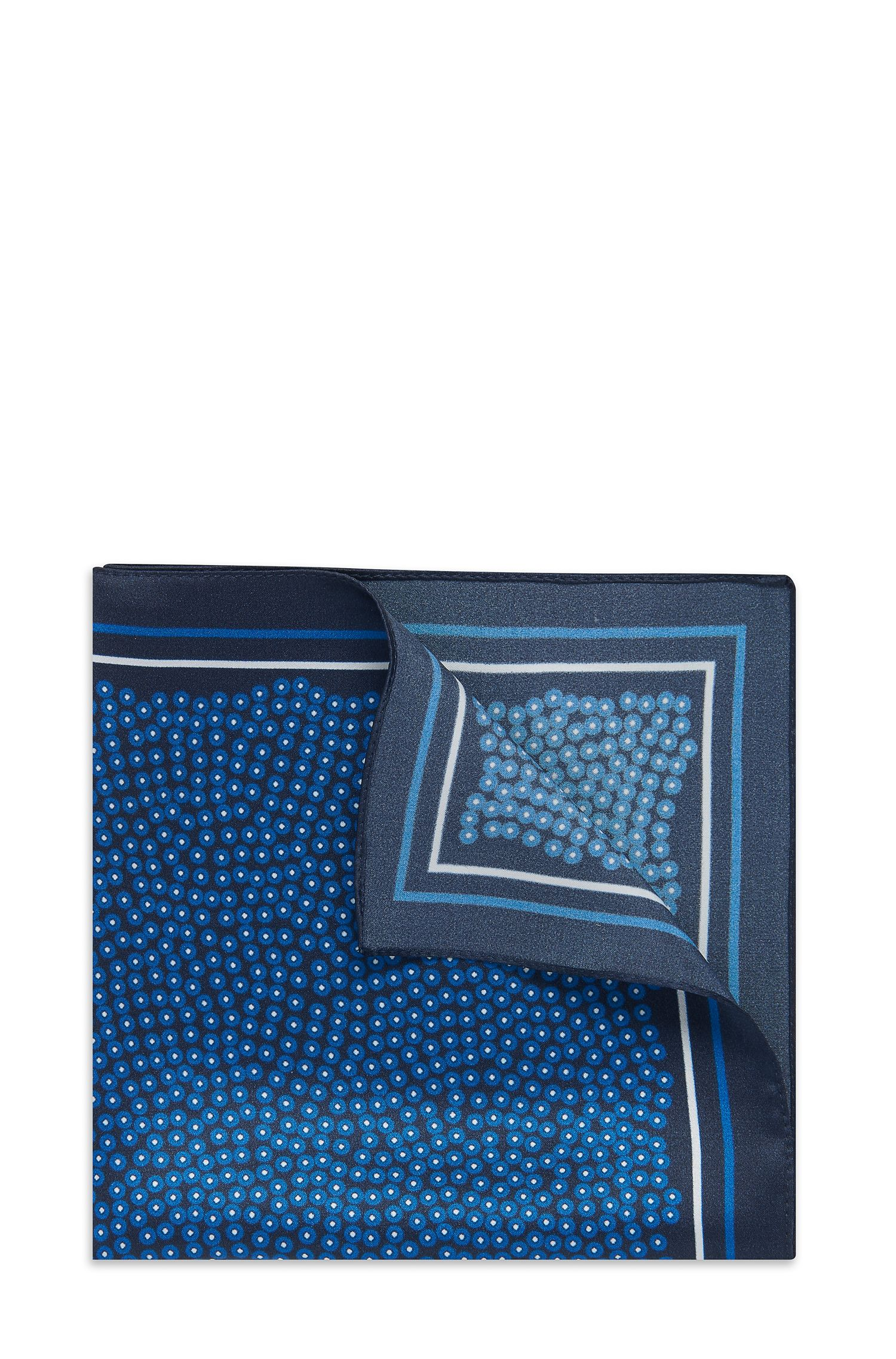 'Pocket Square 33 x 33' | Silk Patterned Pocket Square