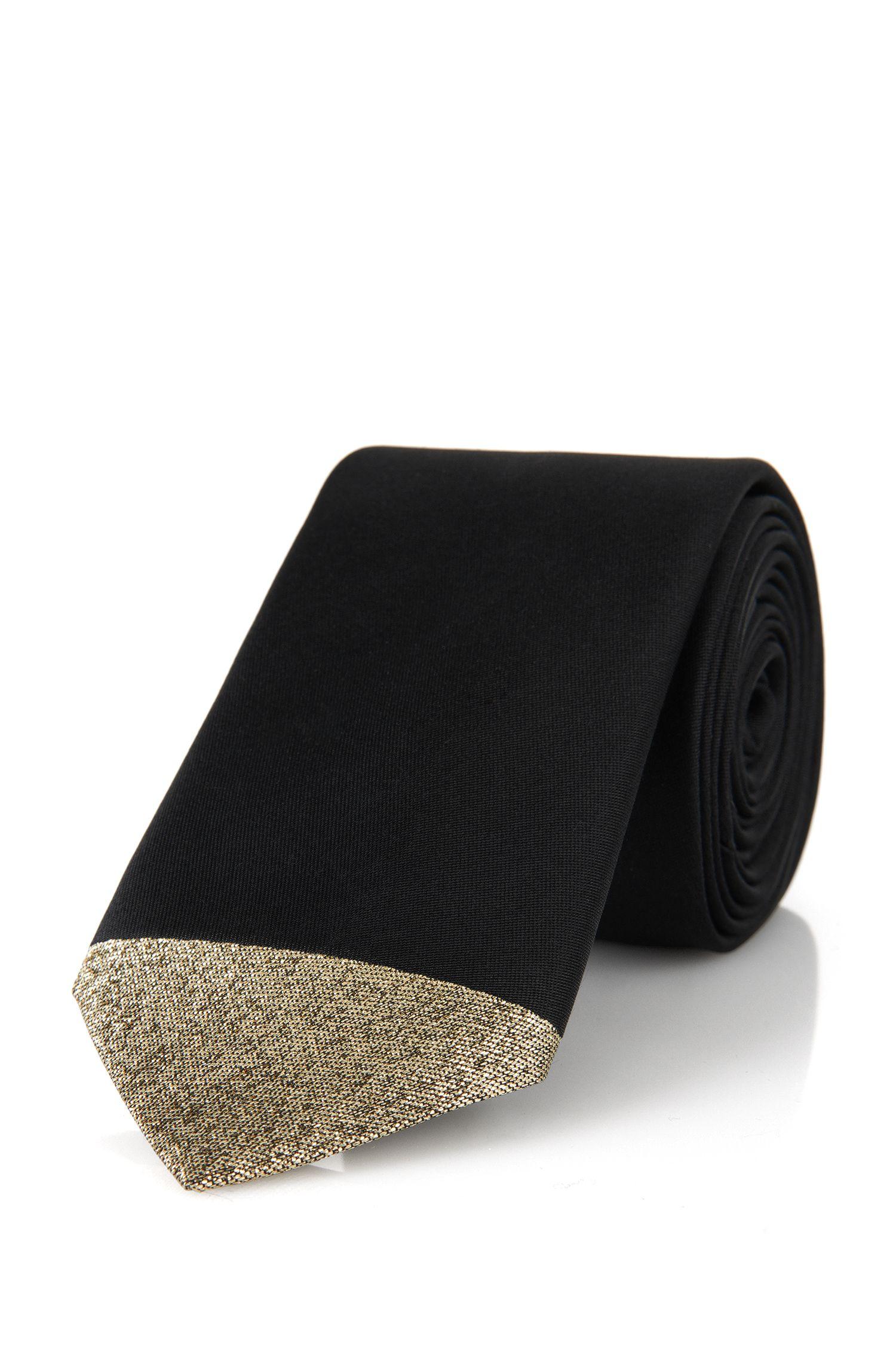 'Tie 6 cm' | Slim, Silk Blend Metallic Tie
