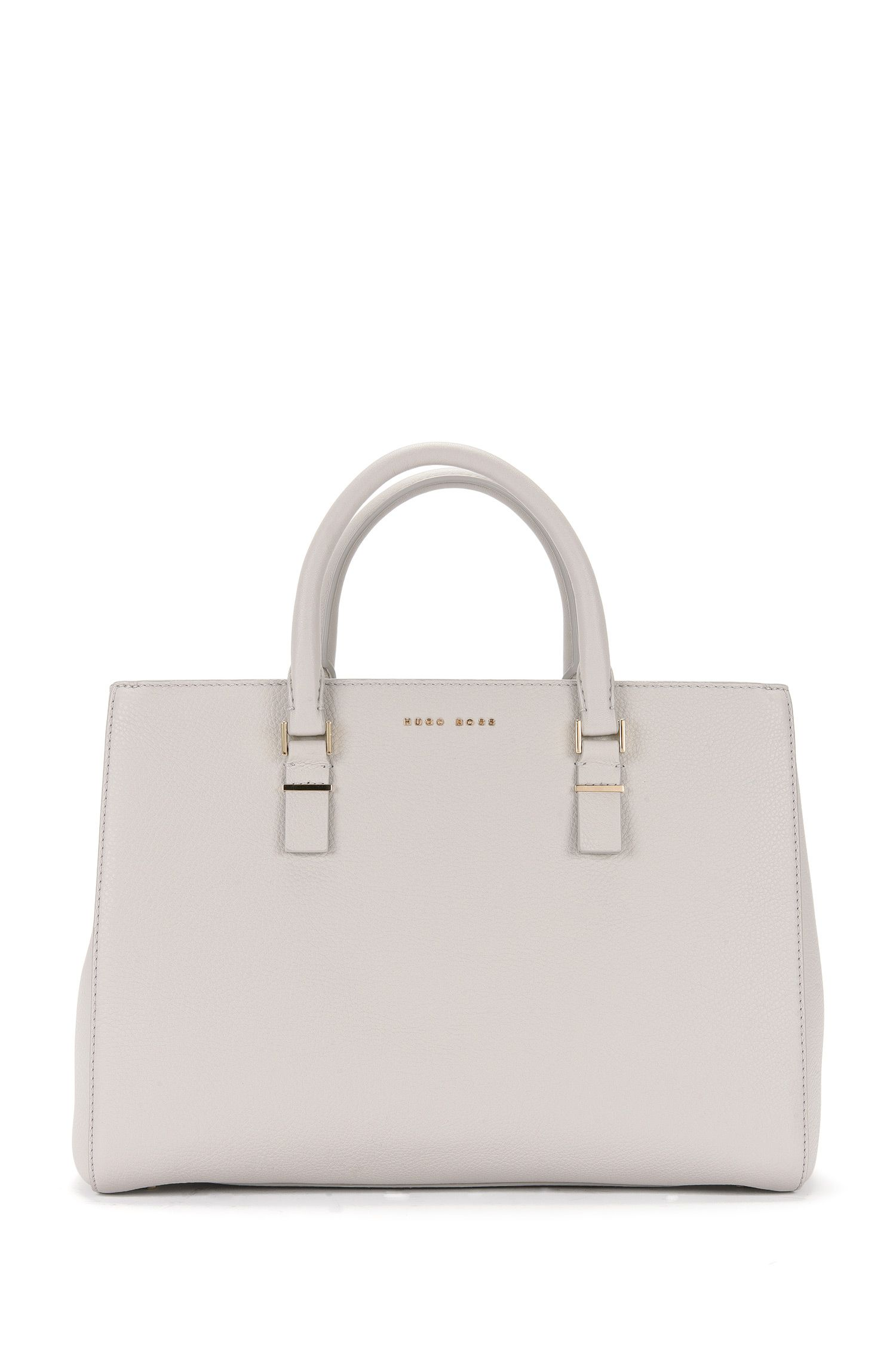'Luxury Staple T. M-C' | Leather Pebbled Shopper Bag