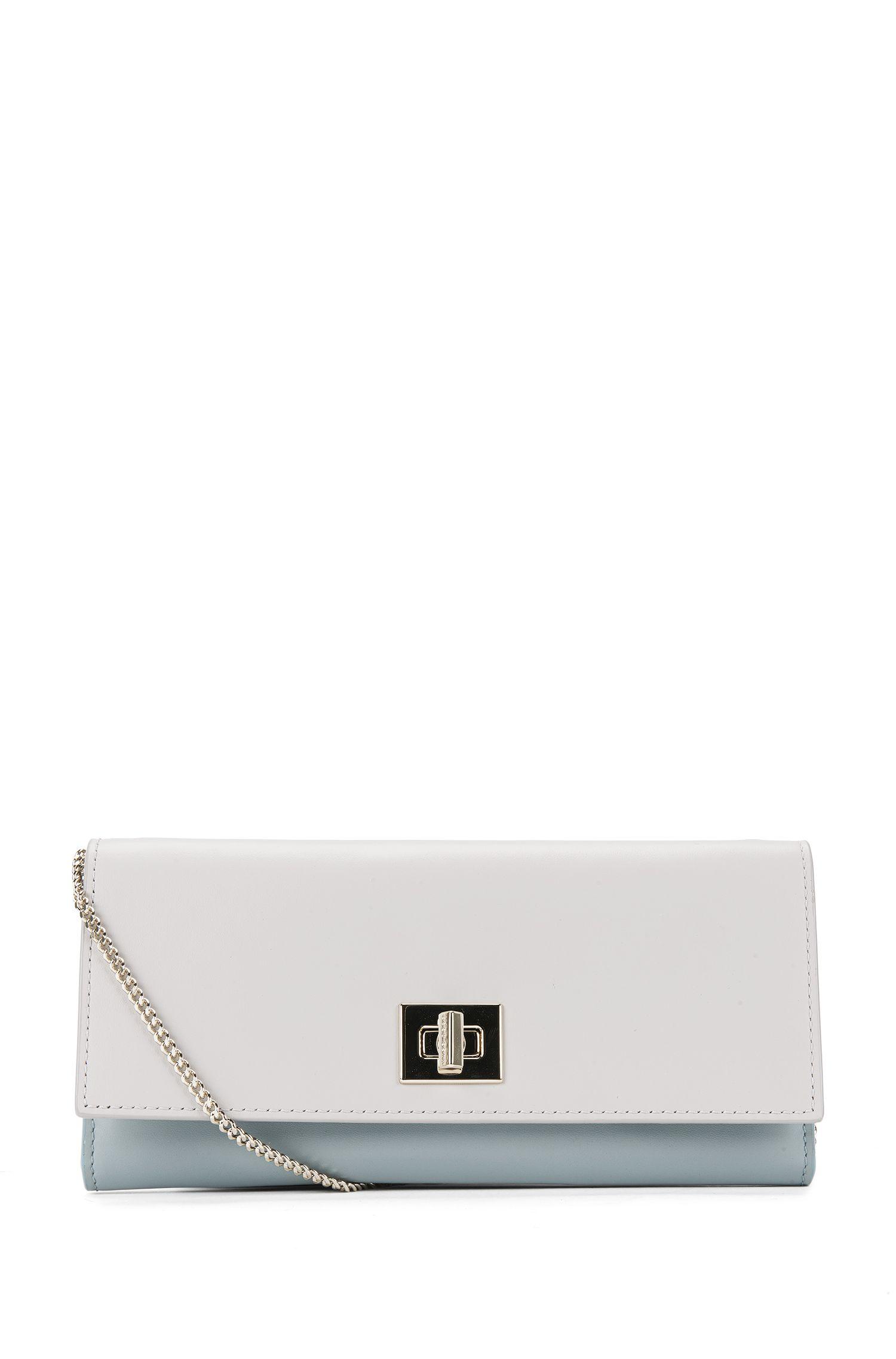 'Bespoke Cont-B'   Calfskin Clutch Wallet, Chain Strap