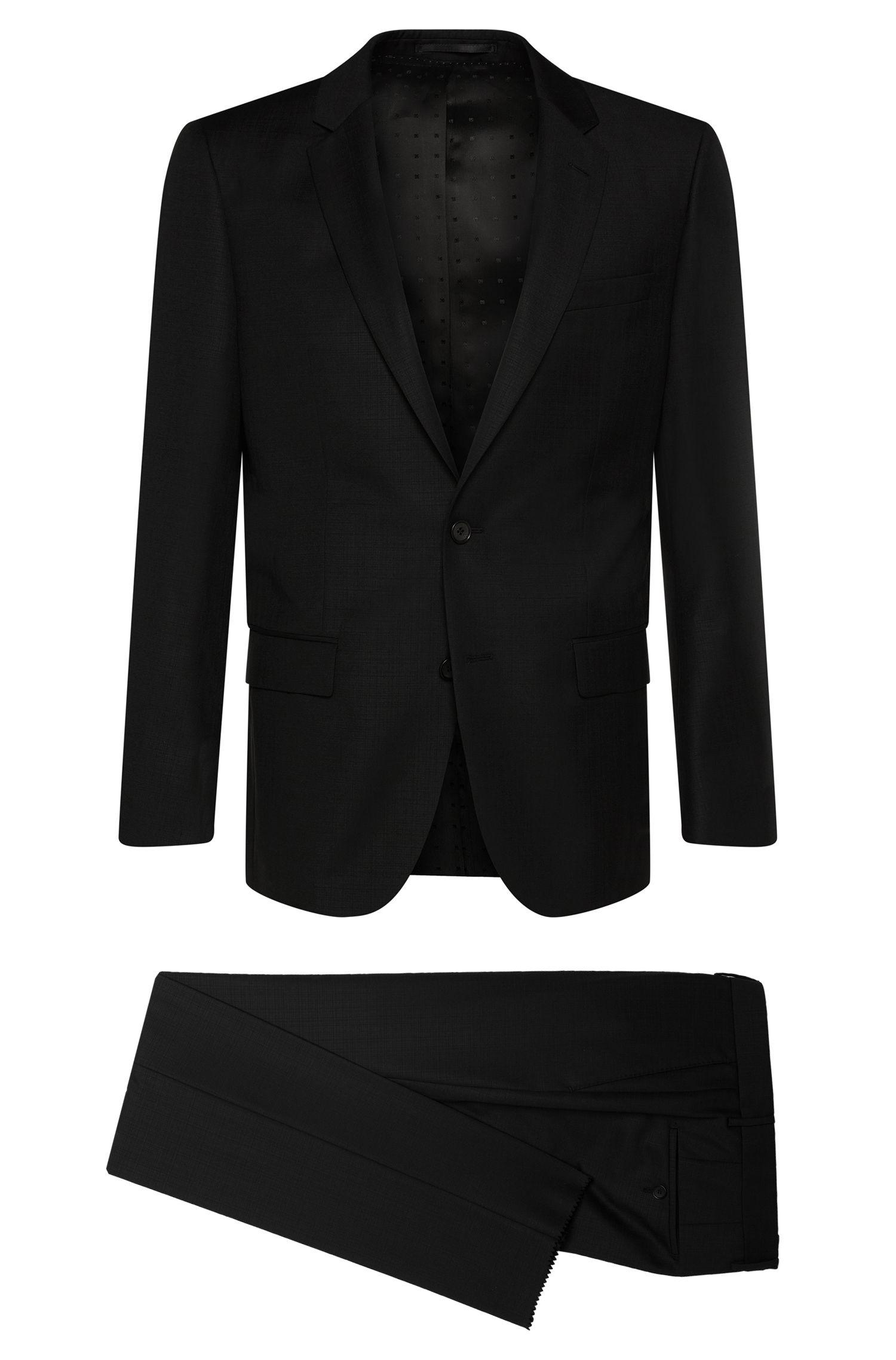 'T-Harvers/Glover' | Slim Fit, Italian Virgin Wool Plaid Suit