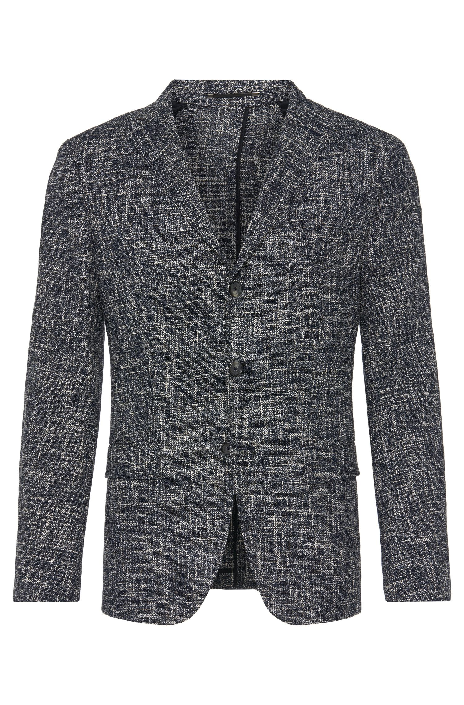 'T-Hevan' | Slim Fit, Italian Stretch Cotton Blend Sport Coat