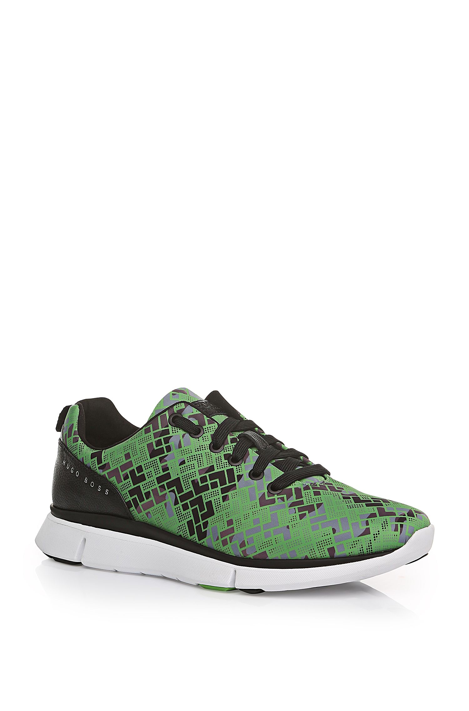 'Gym Print' | Printed Nylon Upper Sneakers
