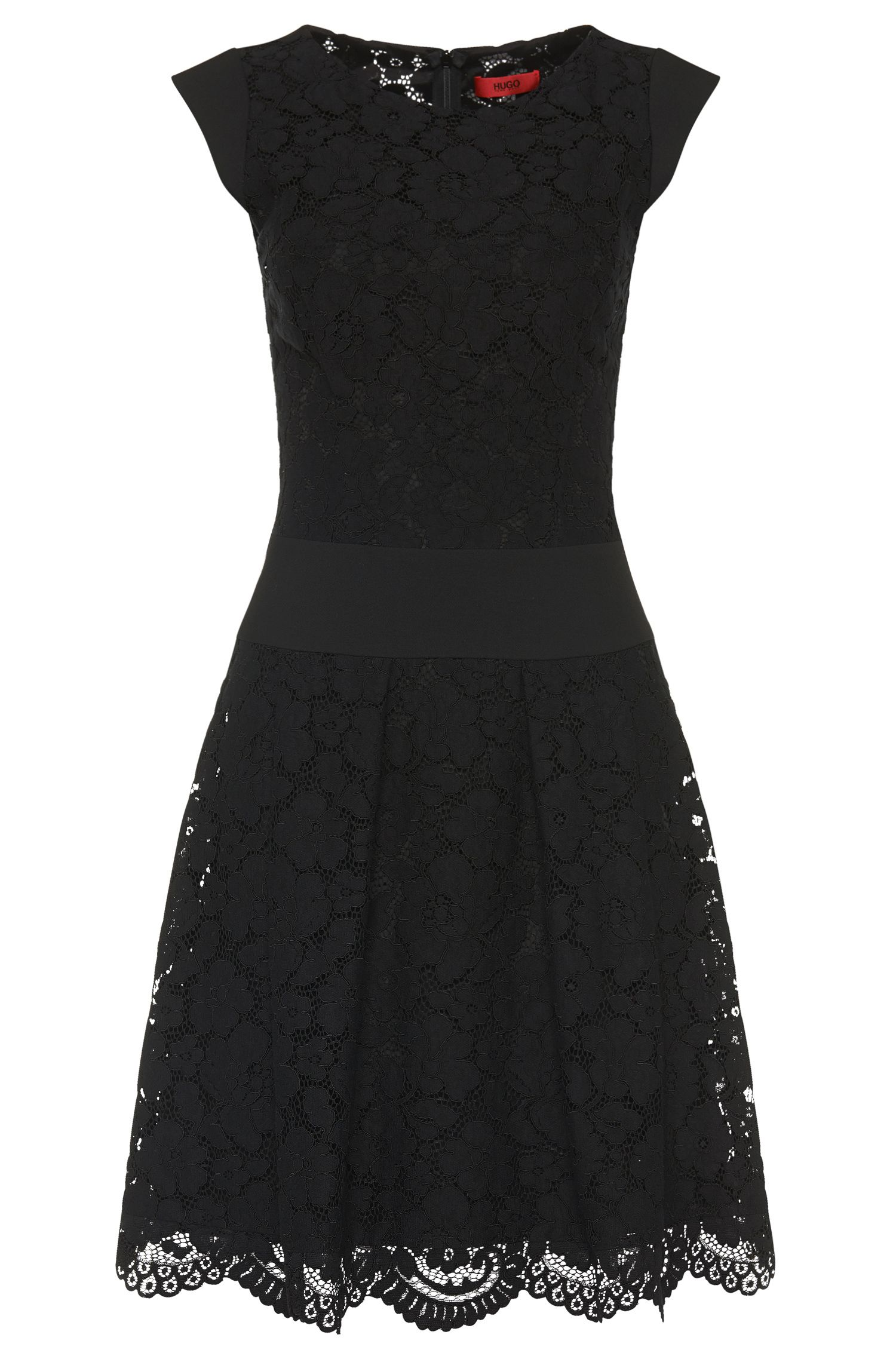 'Kerona' | Cotton Blend A-Line Lace Dress