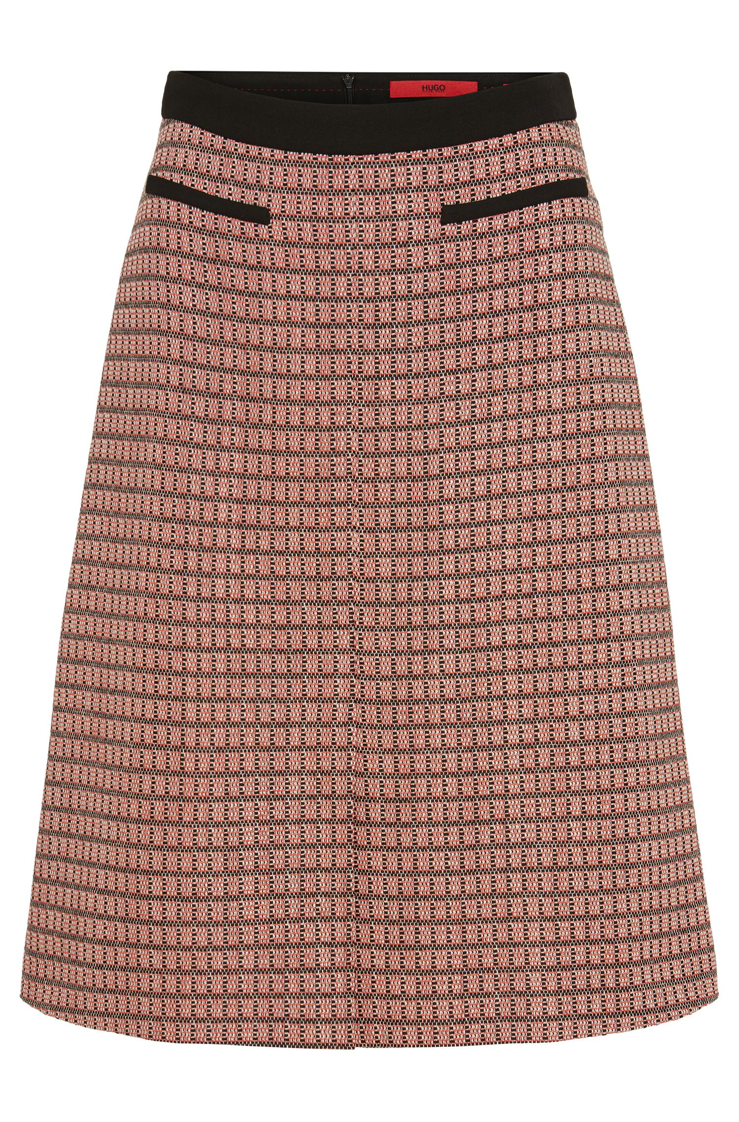 'Rinelle' | Cotton Blend A-Line Skirt