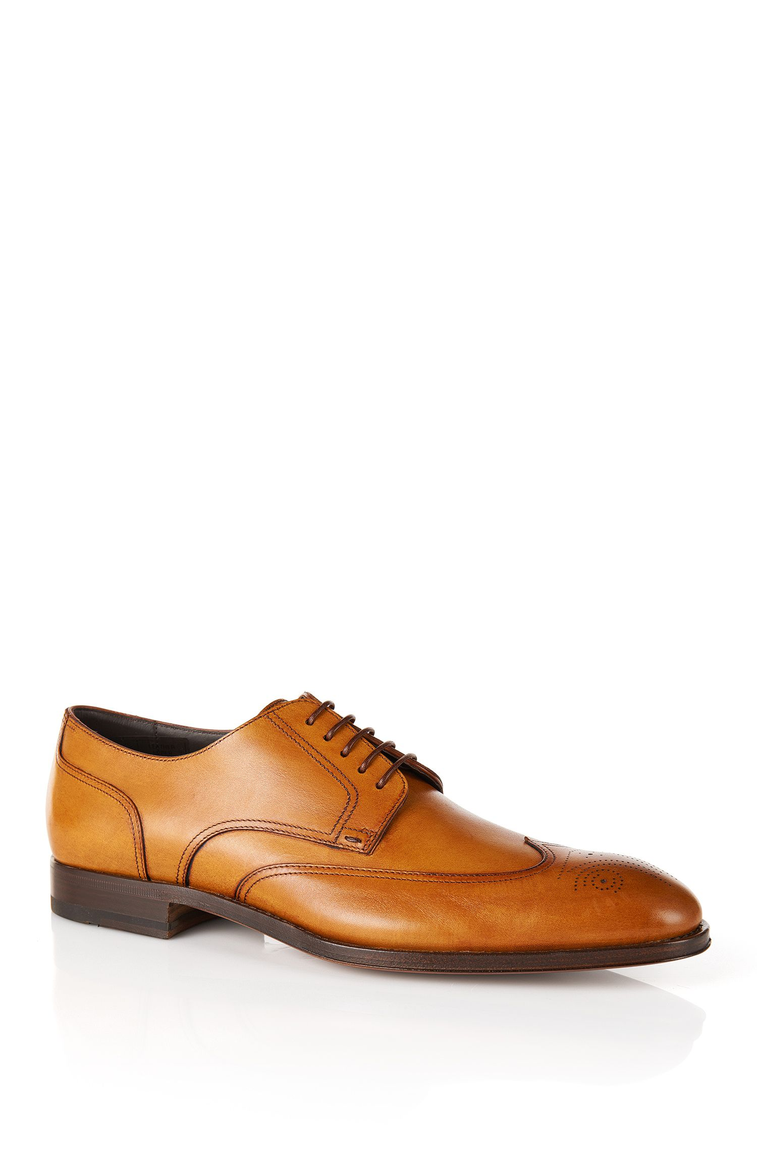 'T-Legender' | Italian Calfskin Brogue Wingtip Dress Shoes