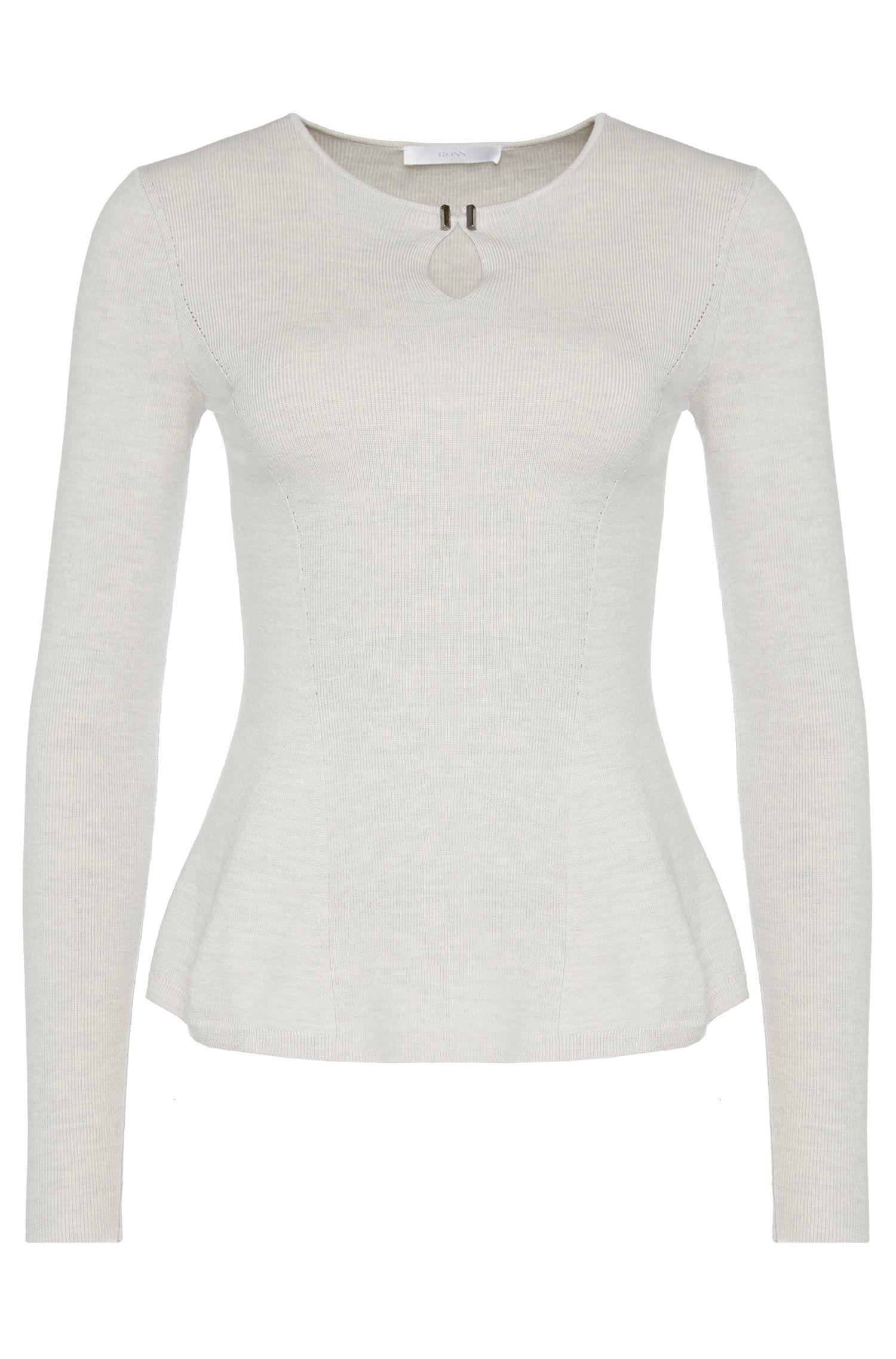 'Filga'   Mercerized Virgin Wool Peplum Sweater