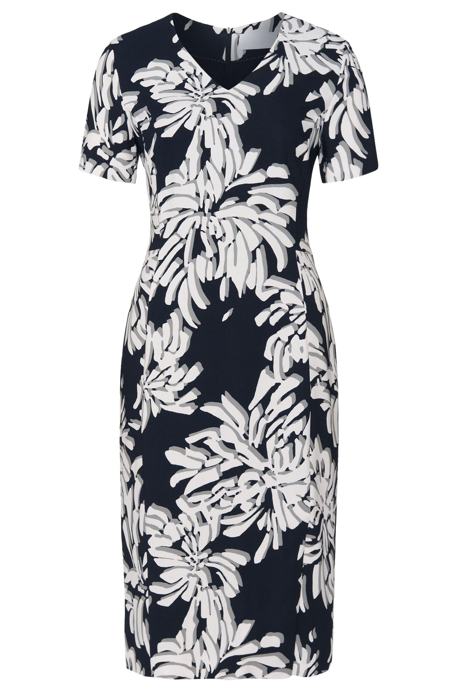 'Deala' | Stretch Crepe Printed Sheath Dress