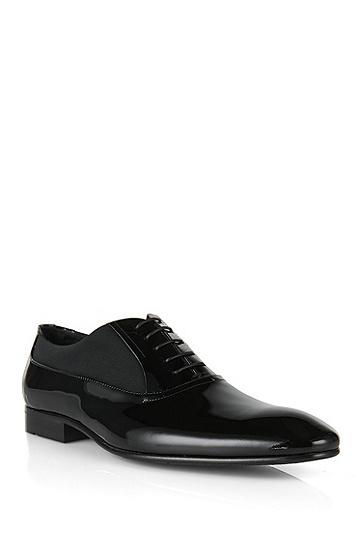 'Evedox' | Calfskin Patent Oxford Dress Shoes, Black