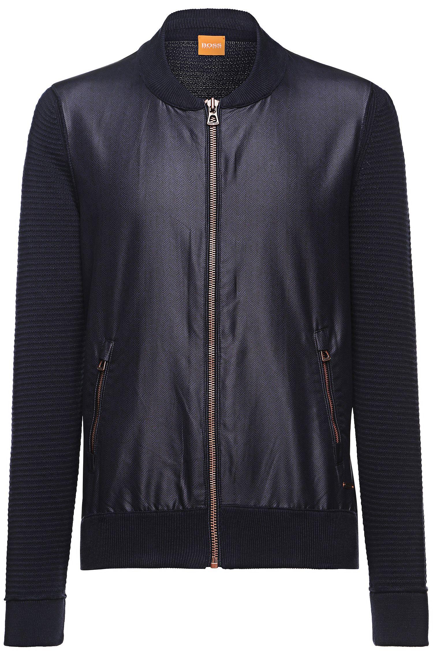 'Abomberny' | Cotton Knit Sleeve Bomber Jacket
