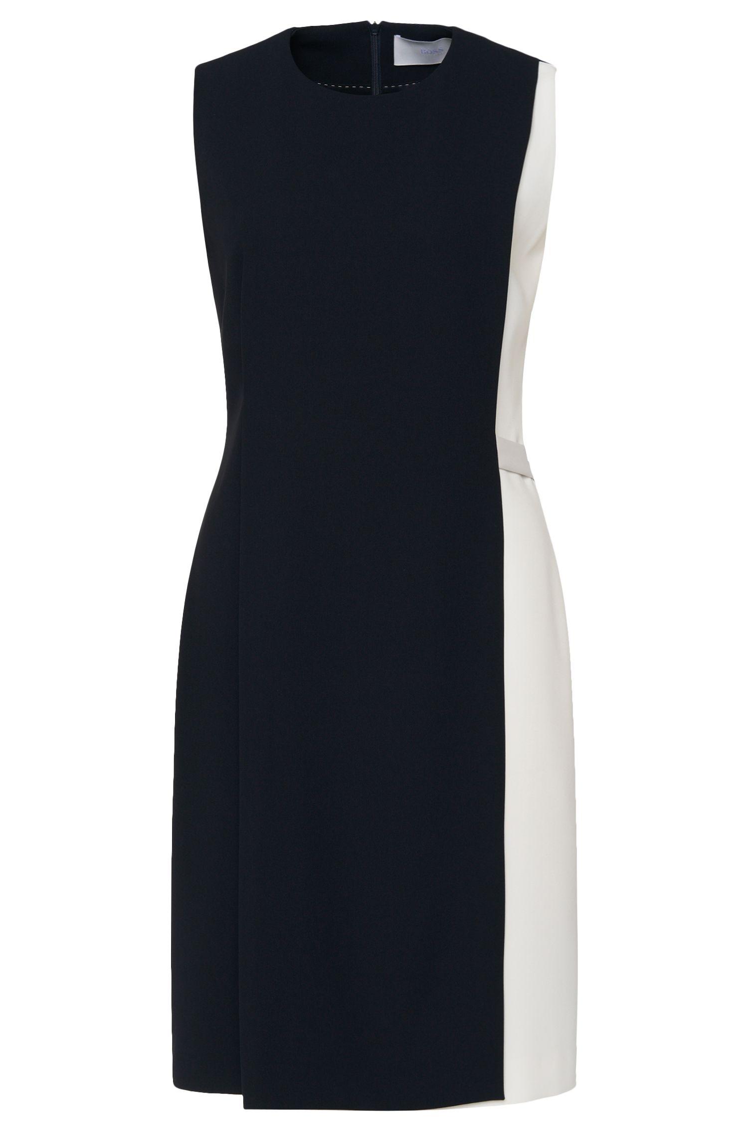 'Halani'   Crepe Layered A-Line Shift Dress