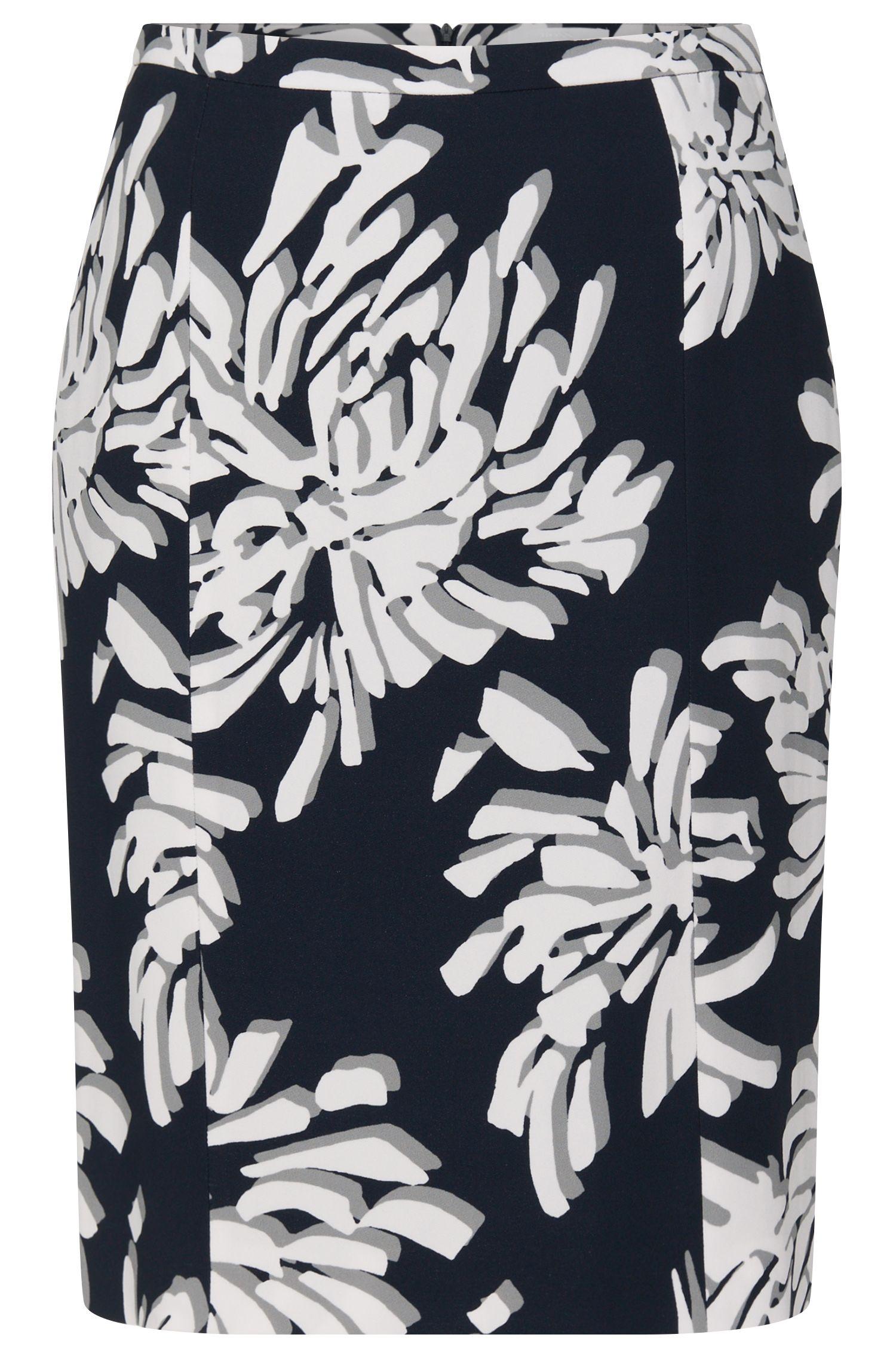 'Veala' | Stretch Floral Skirt