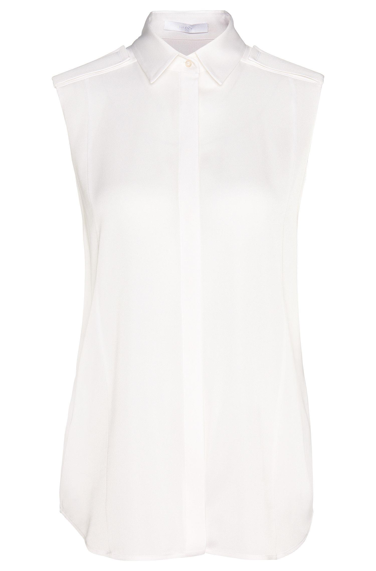 'Beala' | Stretch Silk Blouse