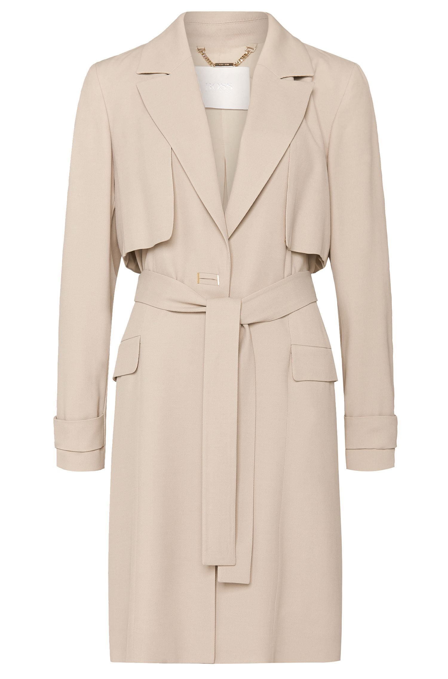 'Capeipa' | Virgin Wool Blend Trench Coat