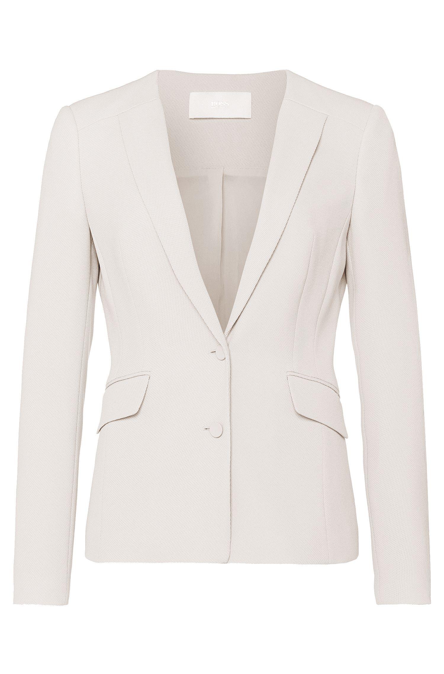 'Jamarine ' | Textured Traictetate Blend Suit Jacket