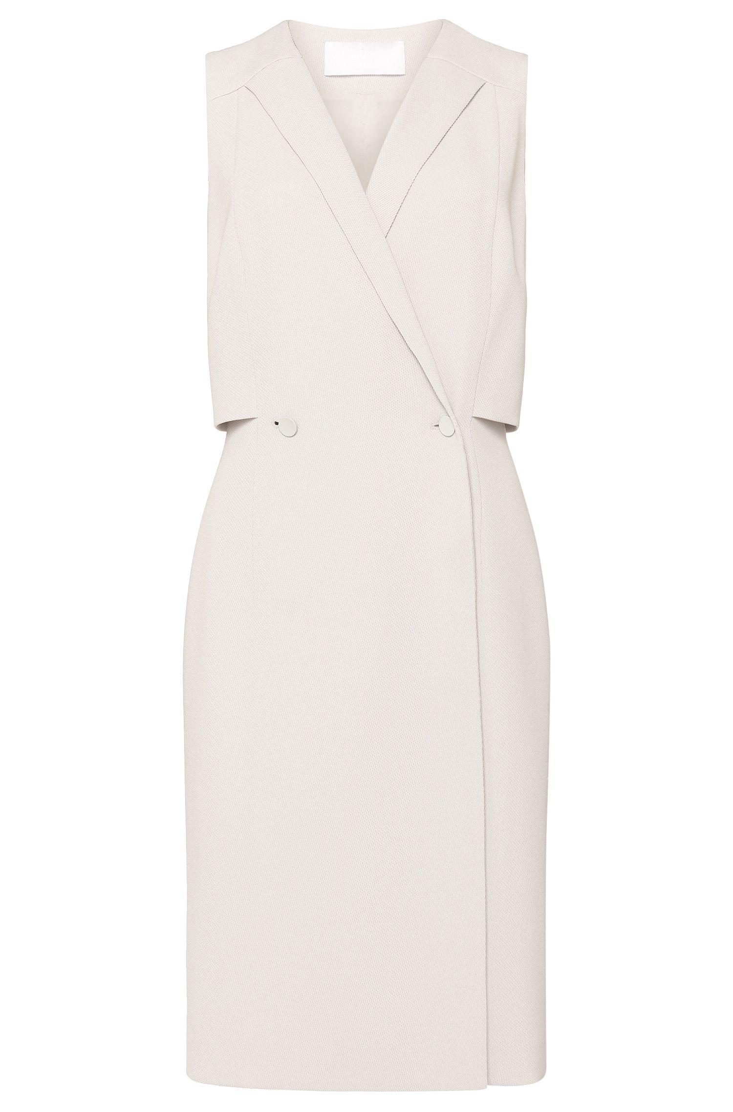 'Damarine' | Suiting Wrap Sheath Dress