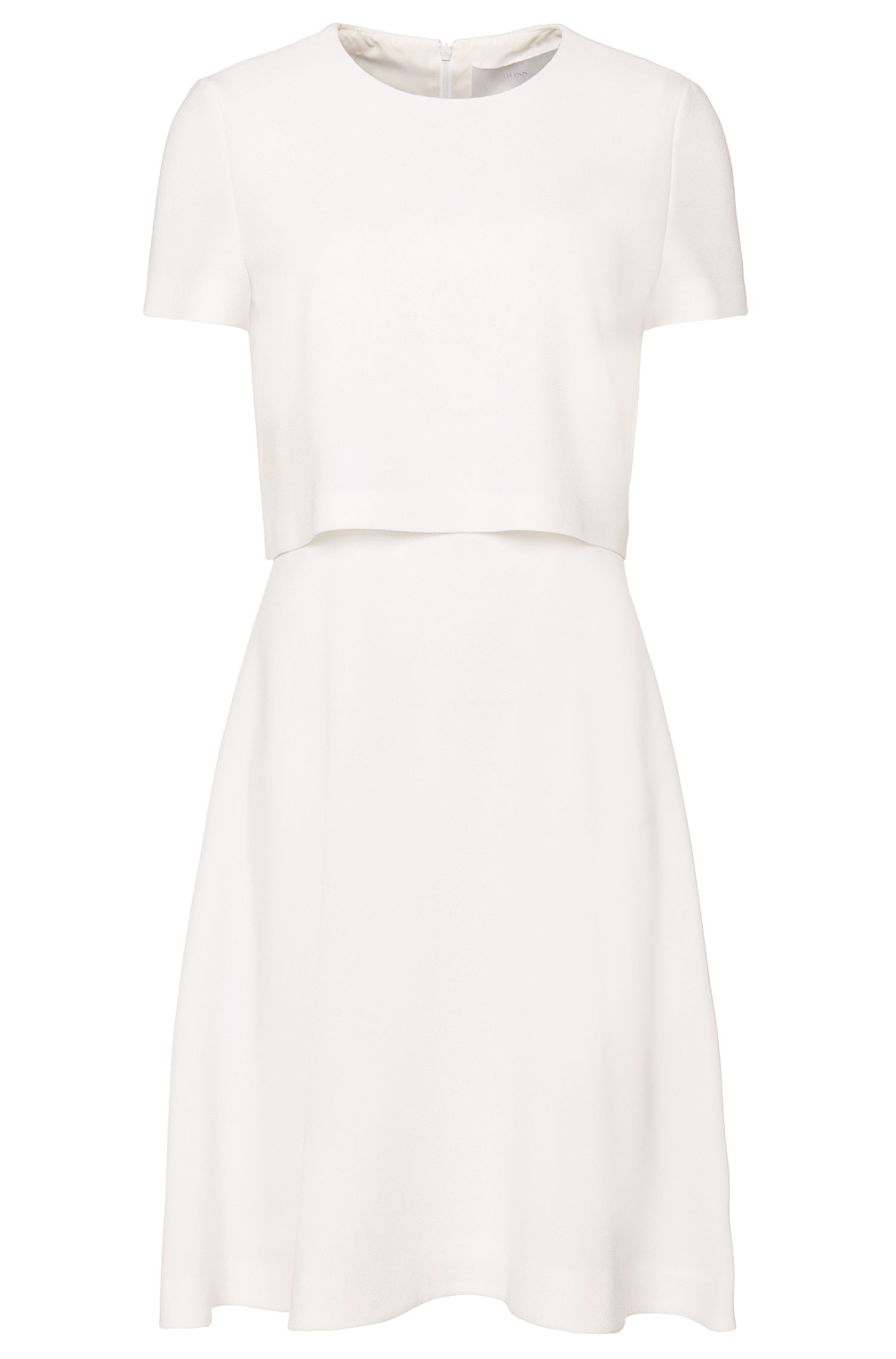 'Dicenda' | Crepe Layered Dress